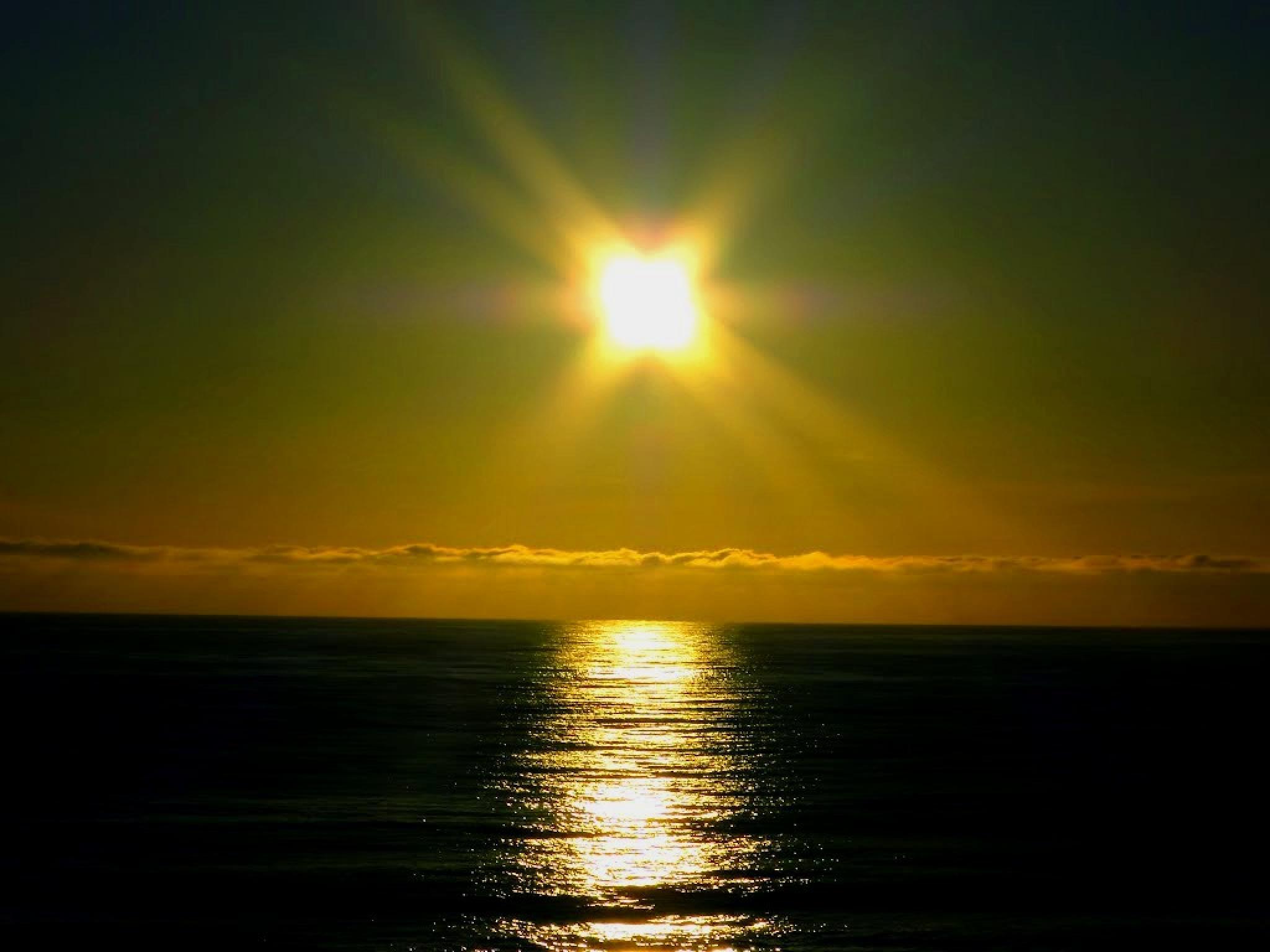 Sunset in Atlantic Ocean, Uruguay by Joselito Nardy Ribeiro