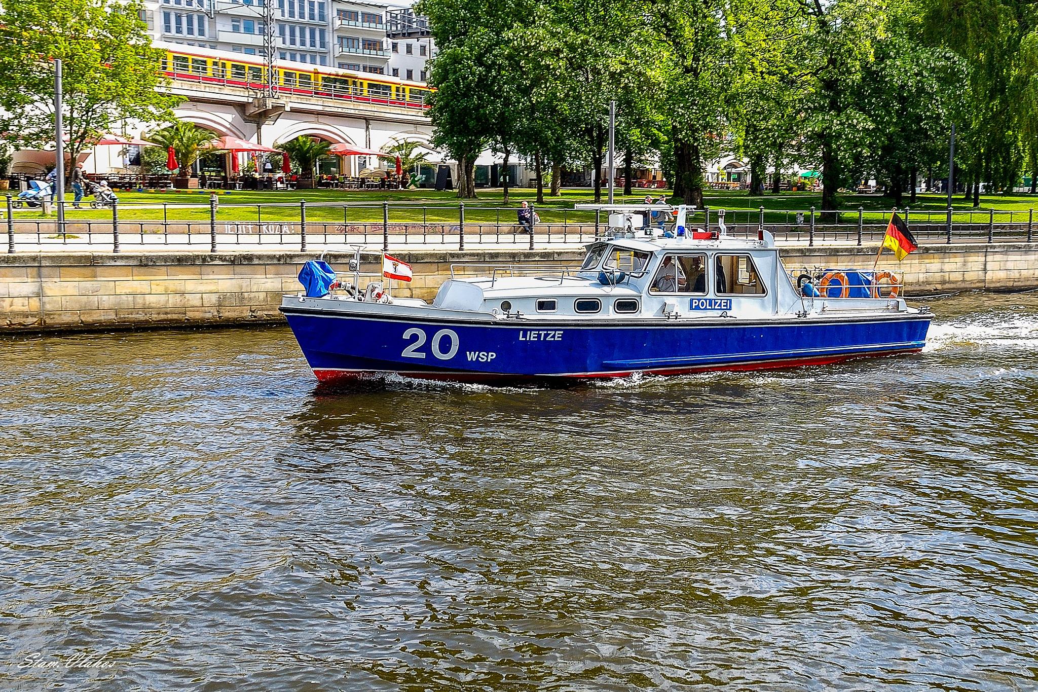 Patrol boat. by Stamatis Vlahos
