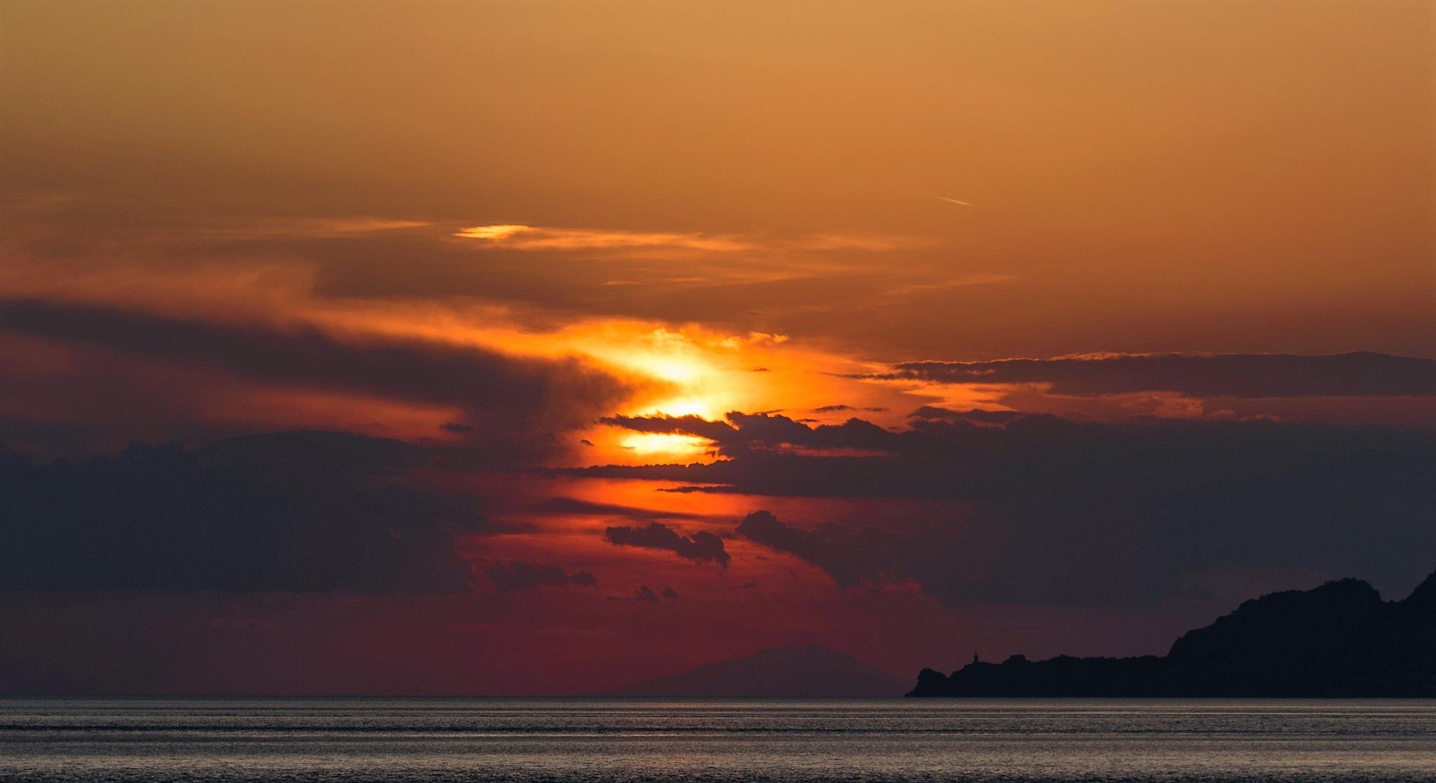 Dramatic sunset by Stamatis Vlahos