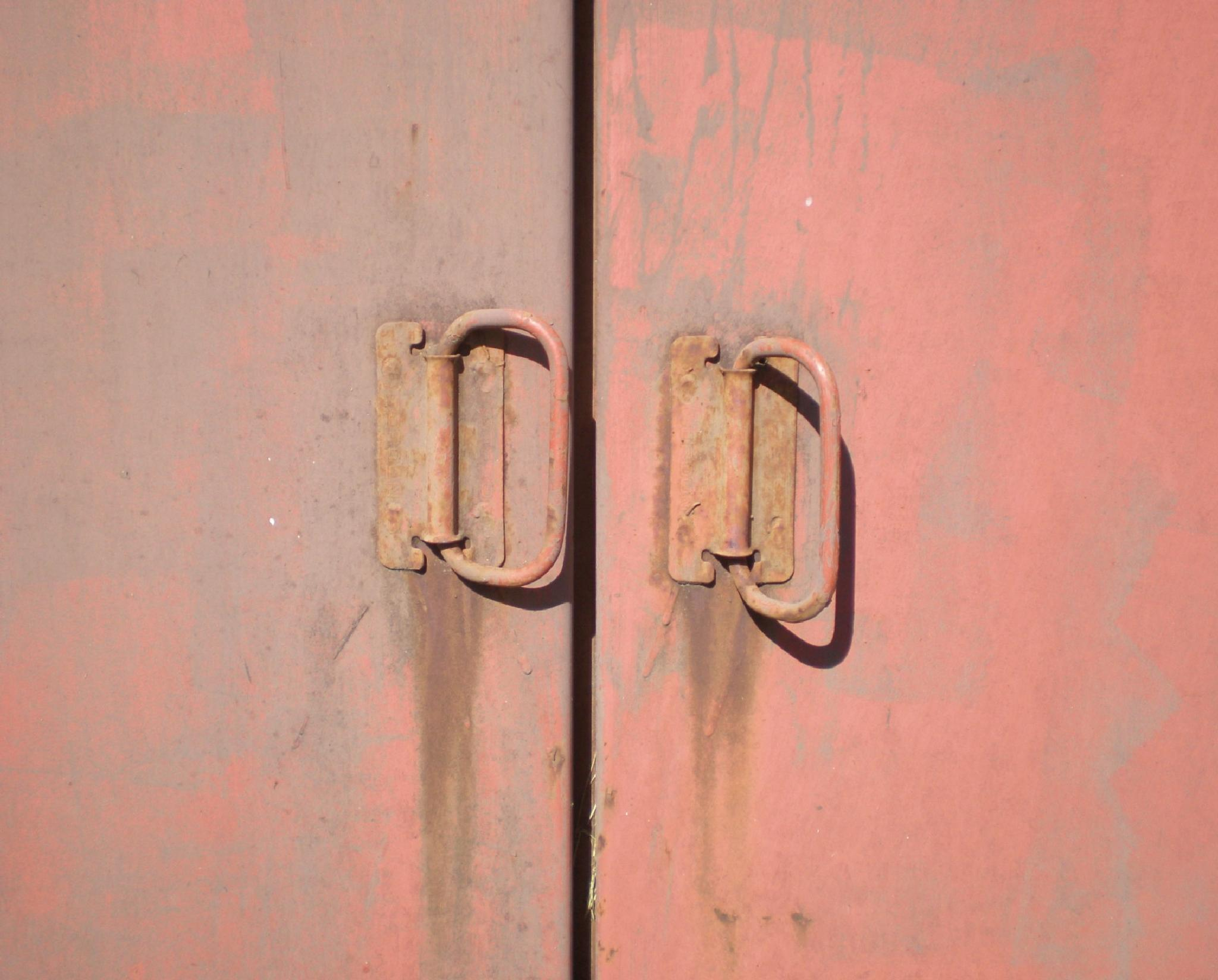 Photo in Random #rusty #storm cellar #doors