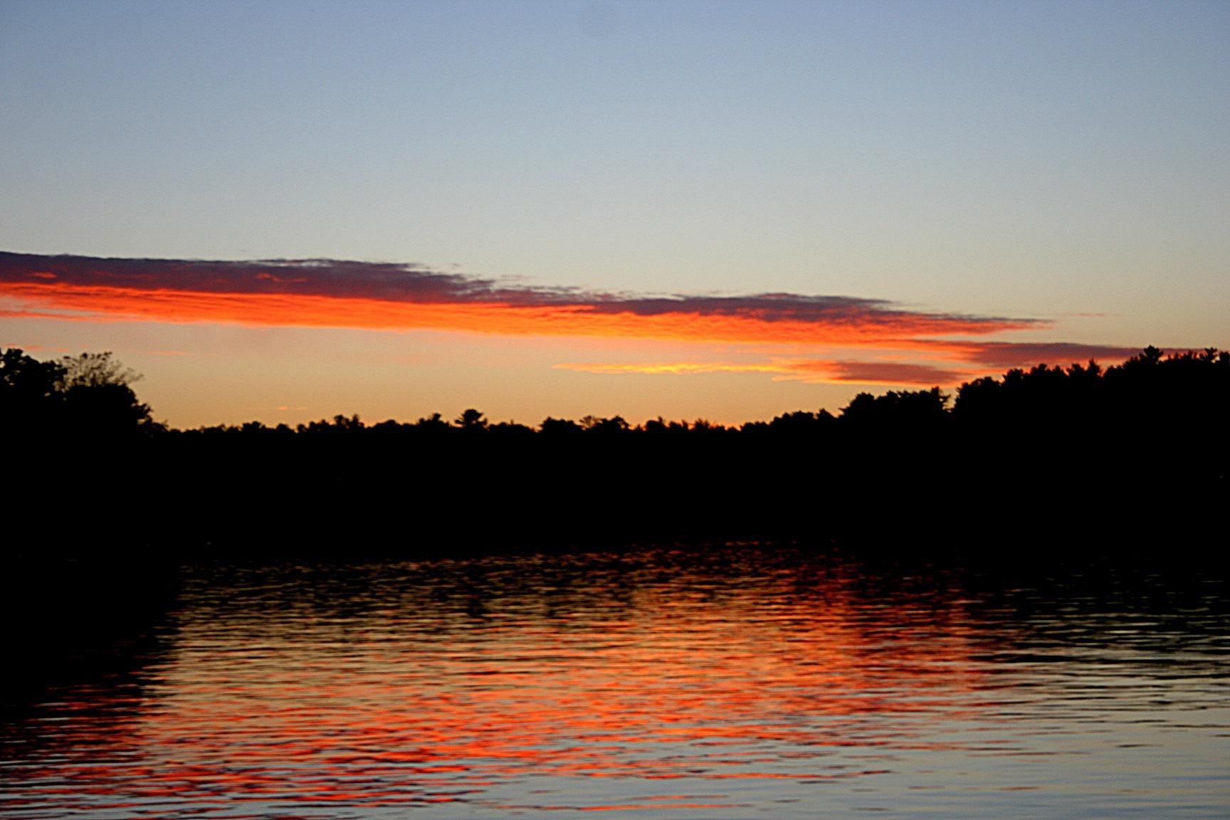 Sunset Little Arbor Vitae WI by joanne.pontiusdavis