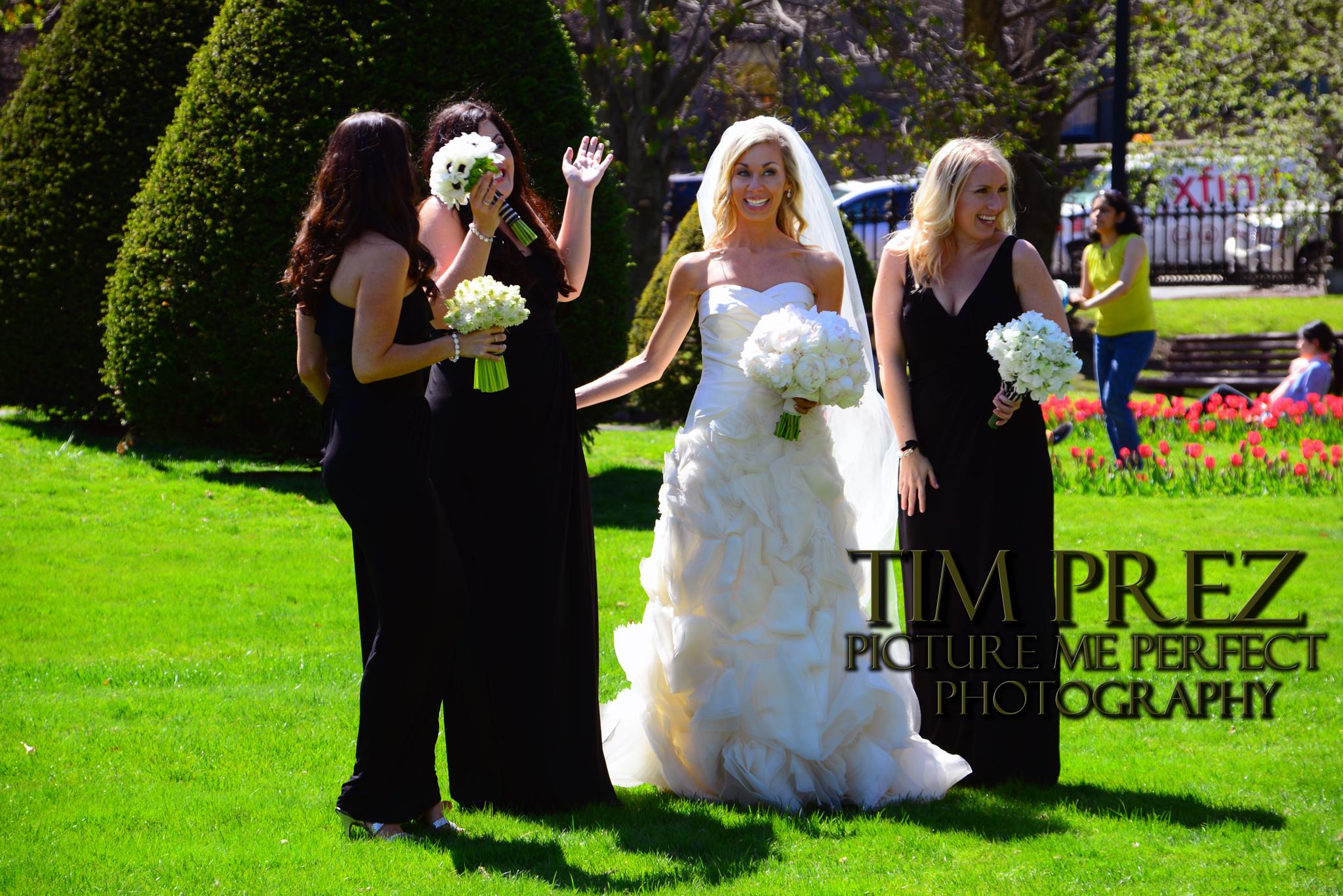 I CAPTURED A BRIDE IN THE BOSTON GARDEN TODAY.. by picturemeperfectphotography