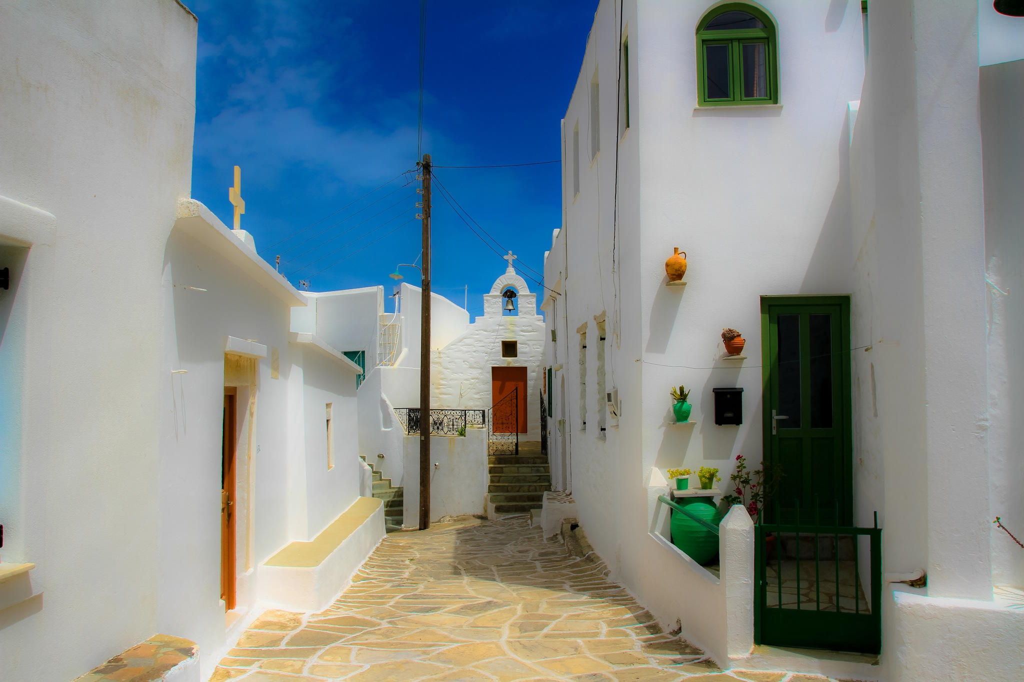 Streets of Lefkes by Martin Roper