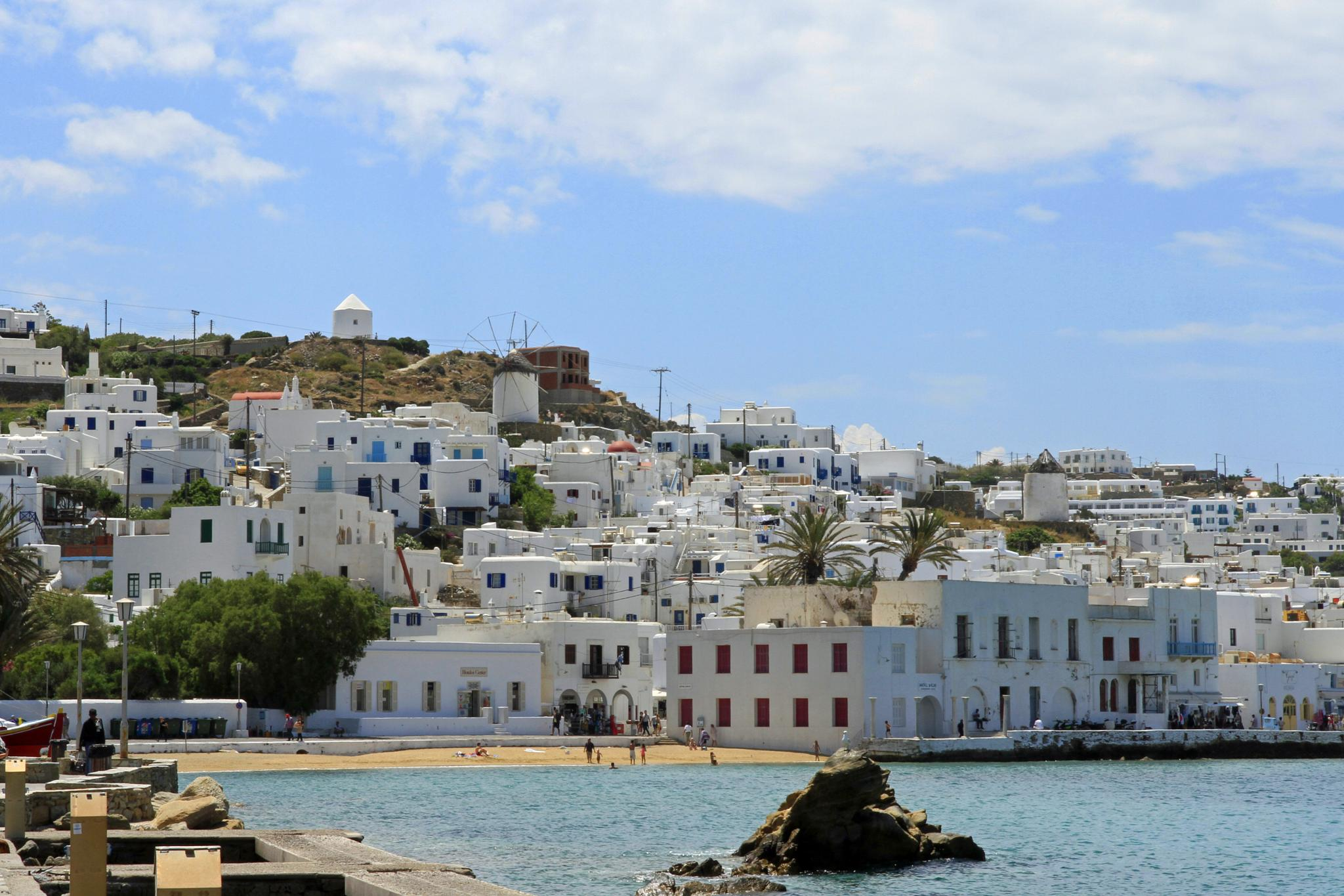 Photo in Sea and Sand #mykonos #town #cyclades