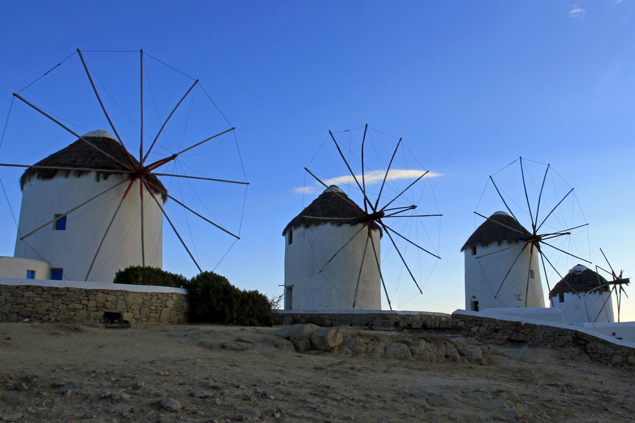 Photo in Rural #windmills #mykonos #cyclades