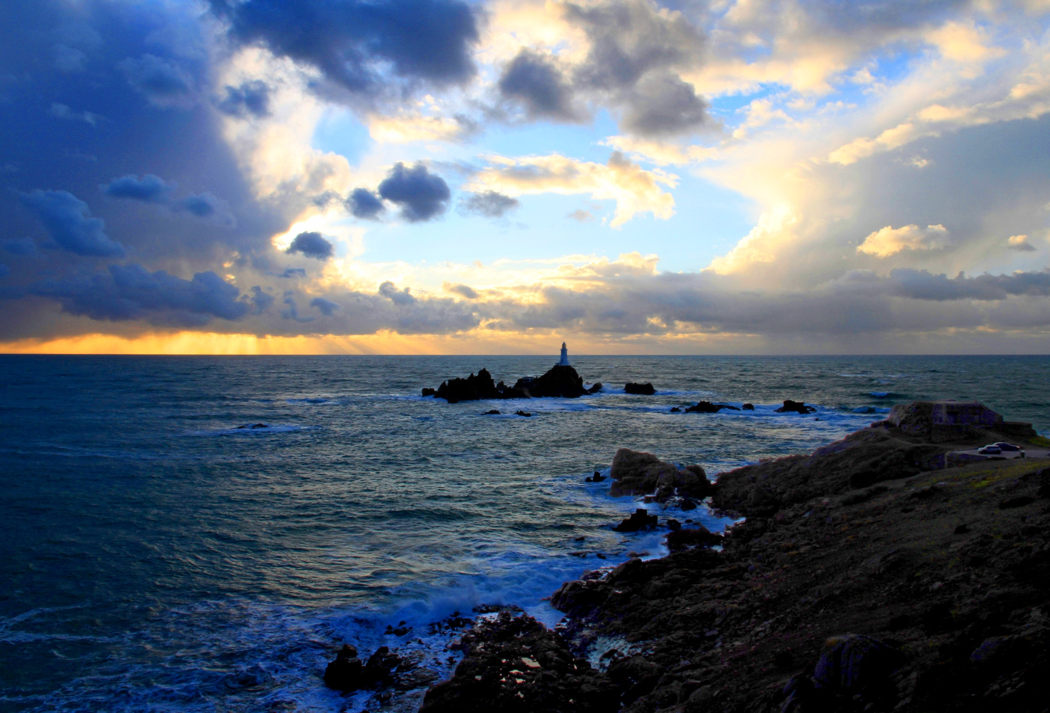 Corbiere Lighthouse at Sunset by Martin Roper