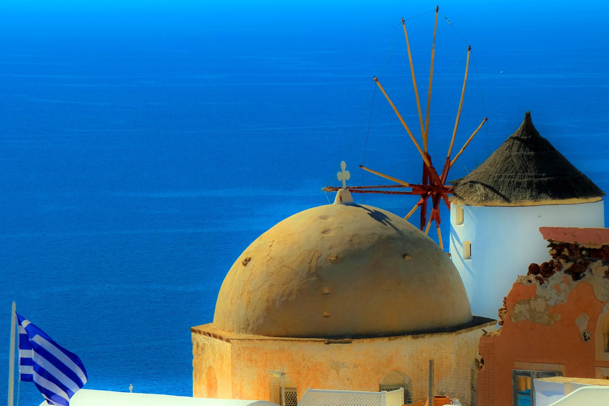 Santorini Church Dome by Martin Roper