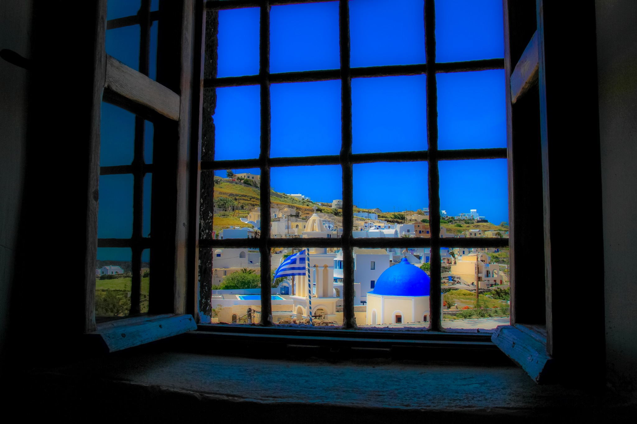 Domes through the old castle window  by Martin Roper
