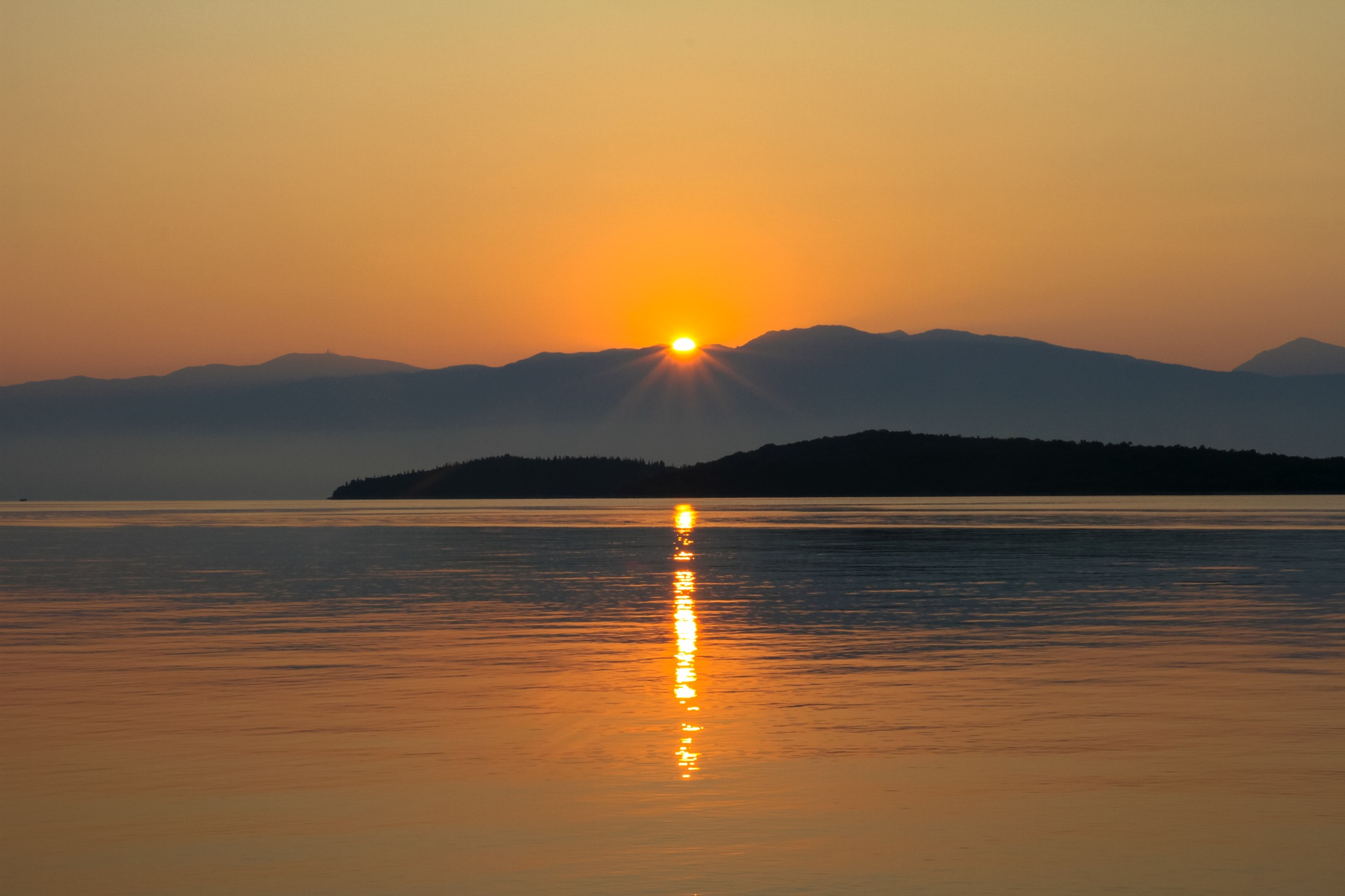 Lefkas Sunrise by Martin Roper