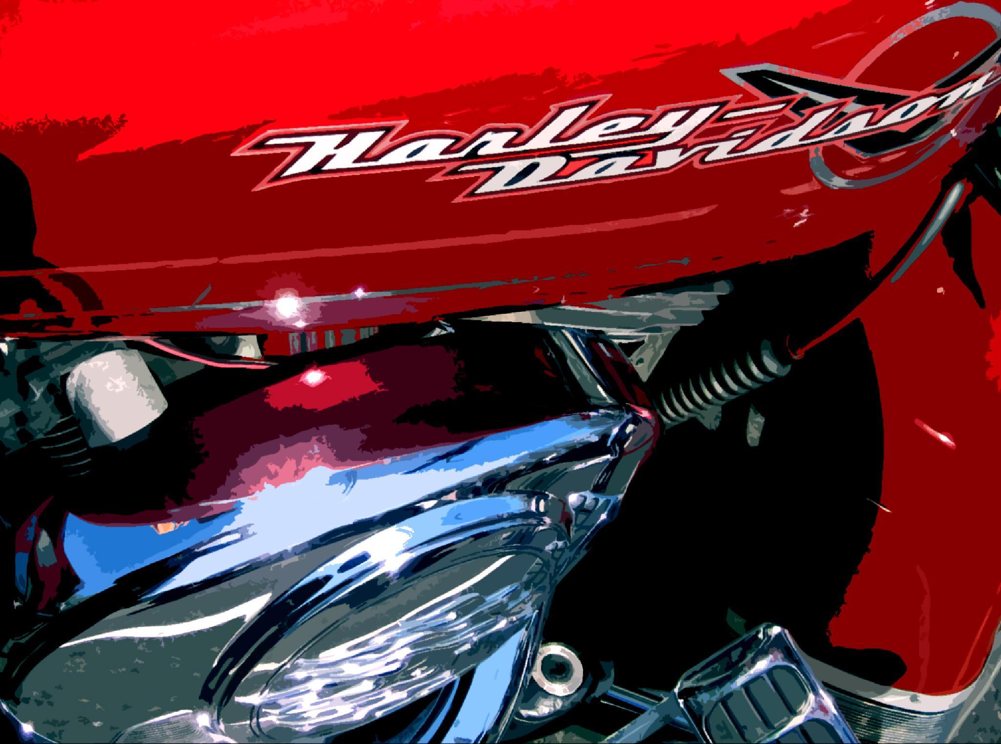 Harley Davidson Red by Stumbelina's CustomArt