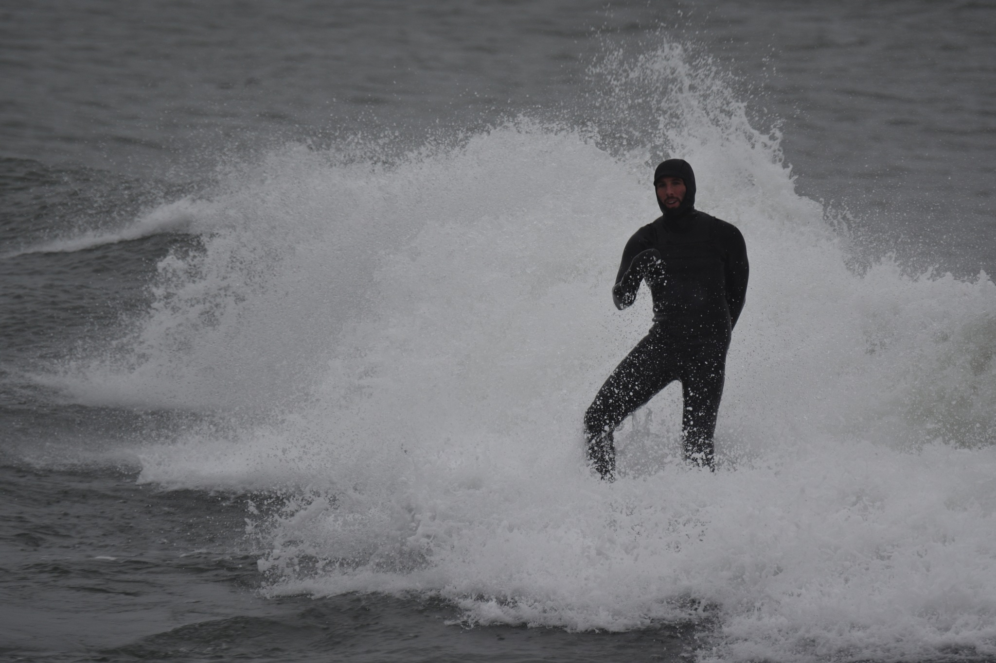 Dec 18 pre Christmas surf Narragansett RI by Shanon