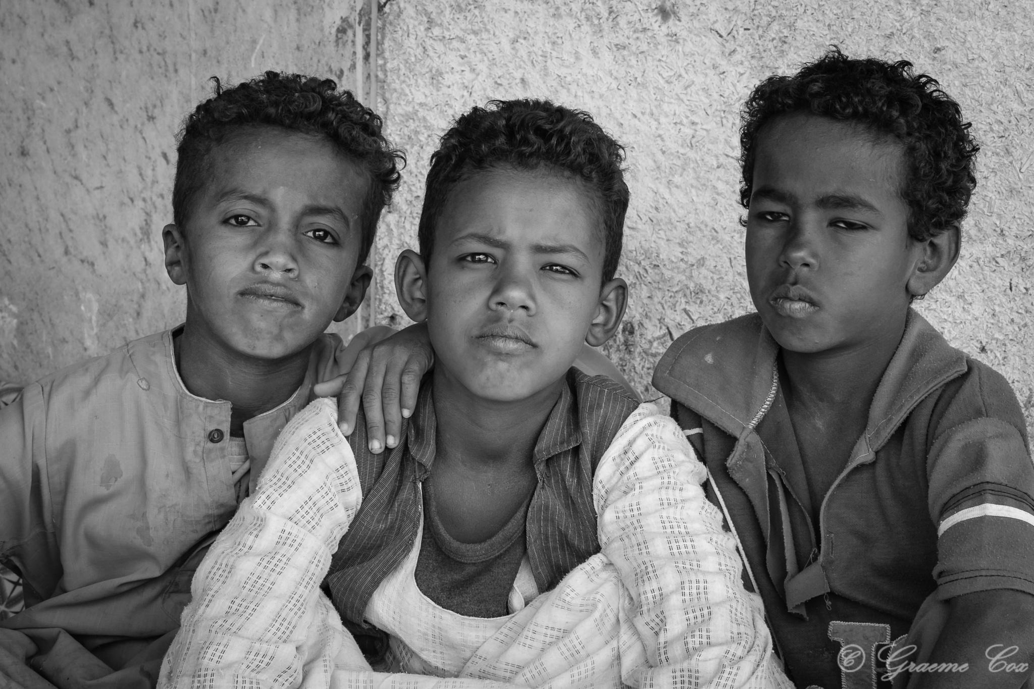 Bedouin Children  by Graeme Cox