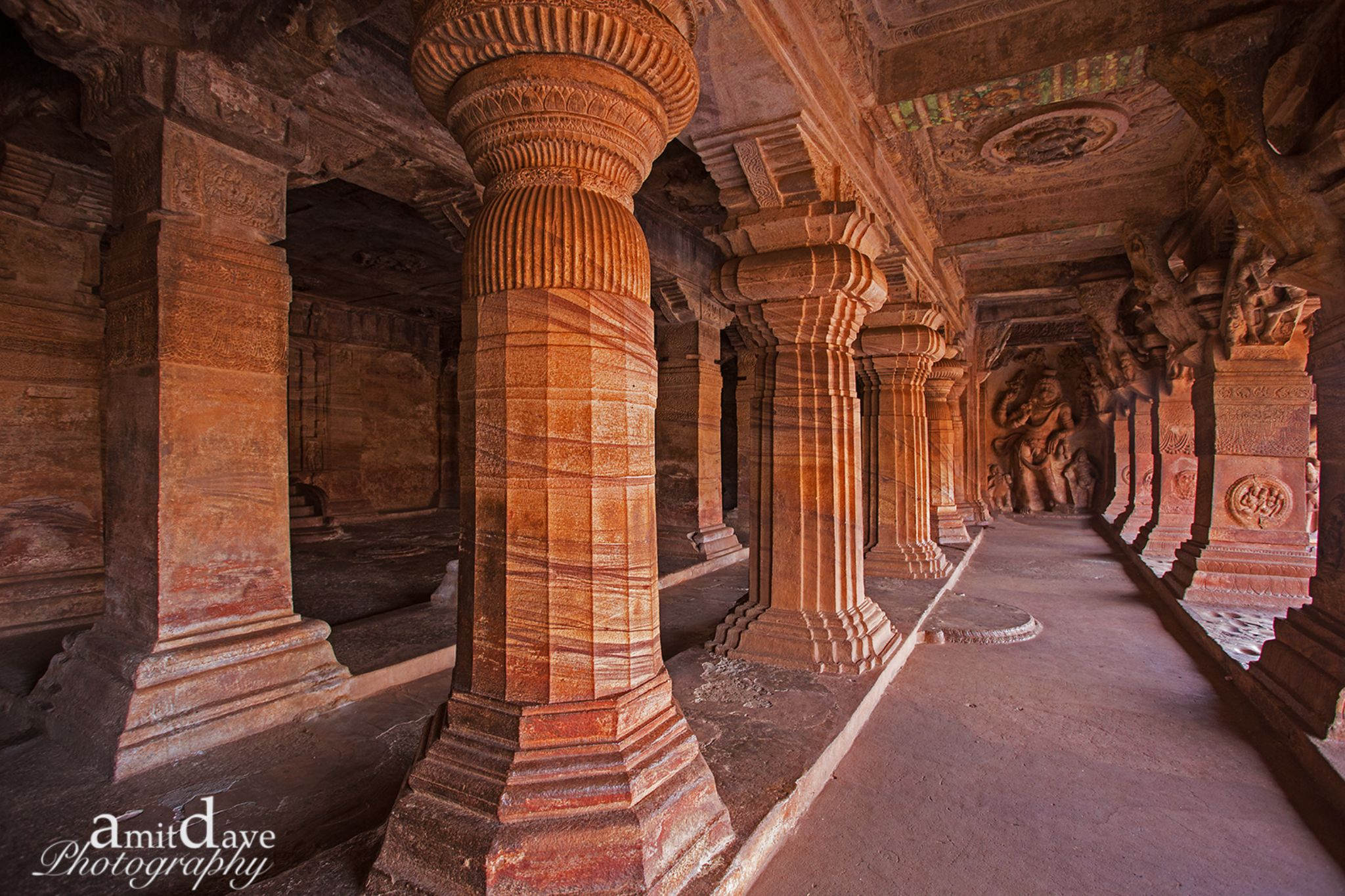 Cave Temples Badami by amit dave
