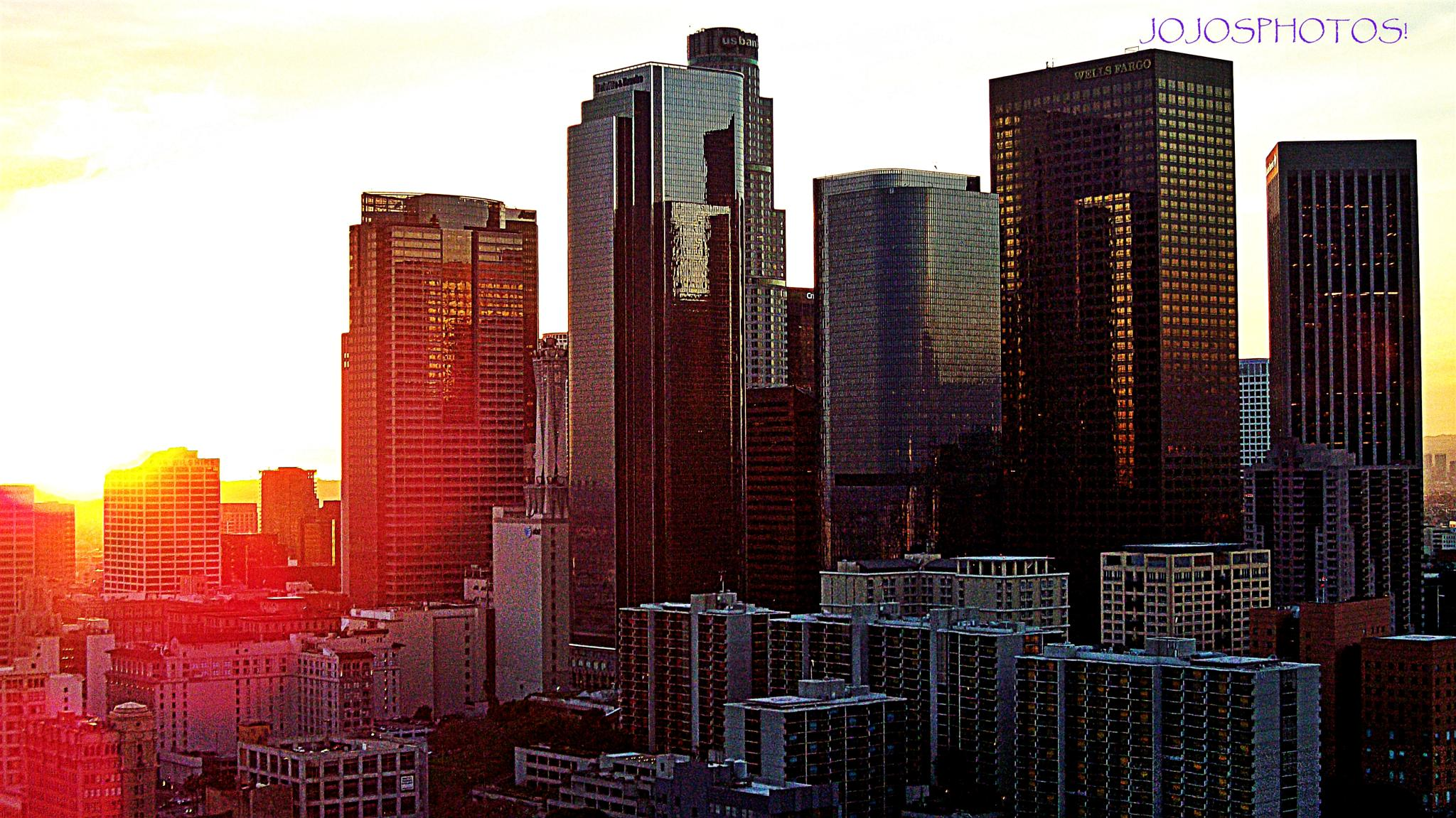 Downtown Sunset by jojowilbarger