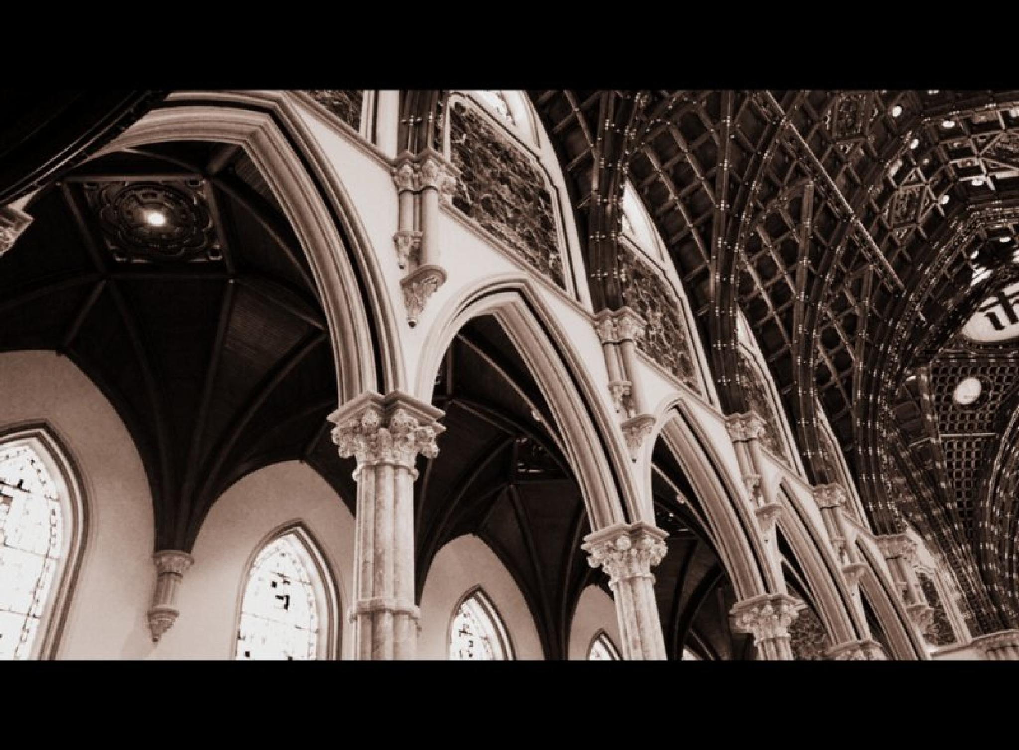 Holy Name Cathedral Church Ornamental Pillars Architecture by THETOYSTALKER
