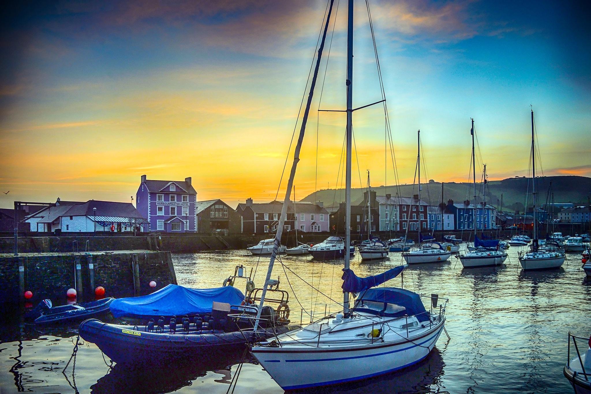 Sunrise Aberaeron West Wales UK by andychittockphotohrapher