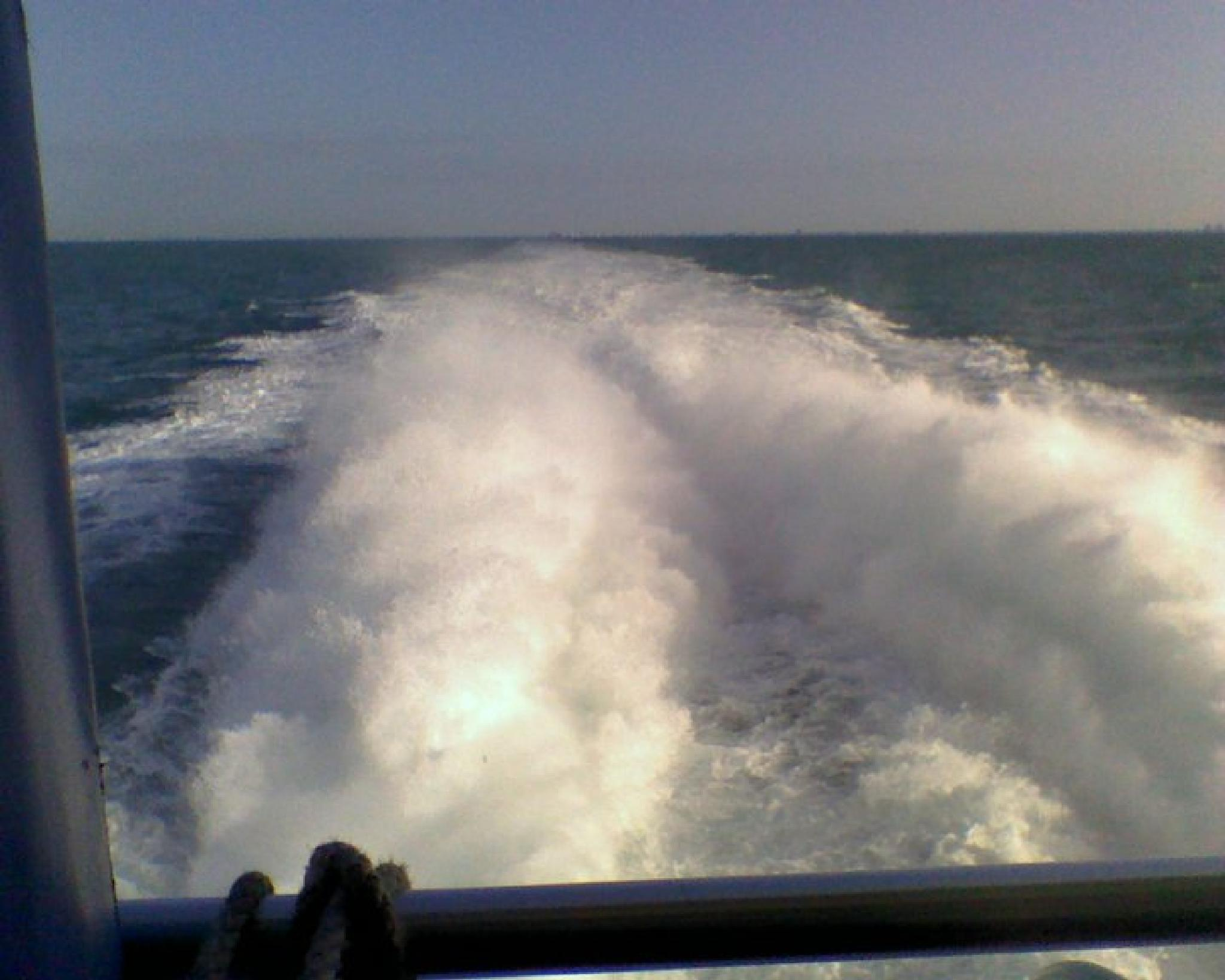 Wake Behind The Key West Express Boat by crystal.lennon1