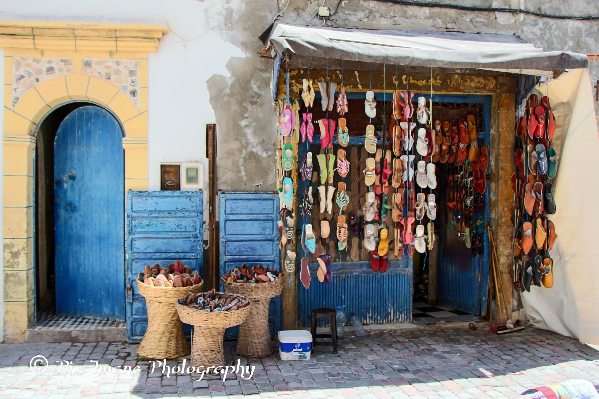 shoe shop in Essaouira -  Morocco by PixImane Photography