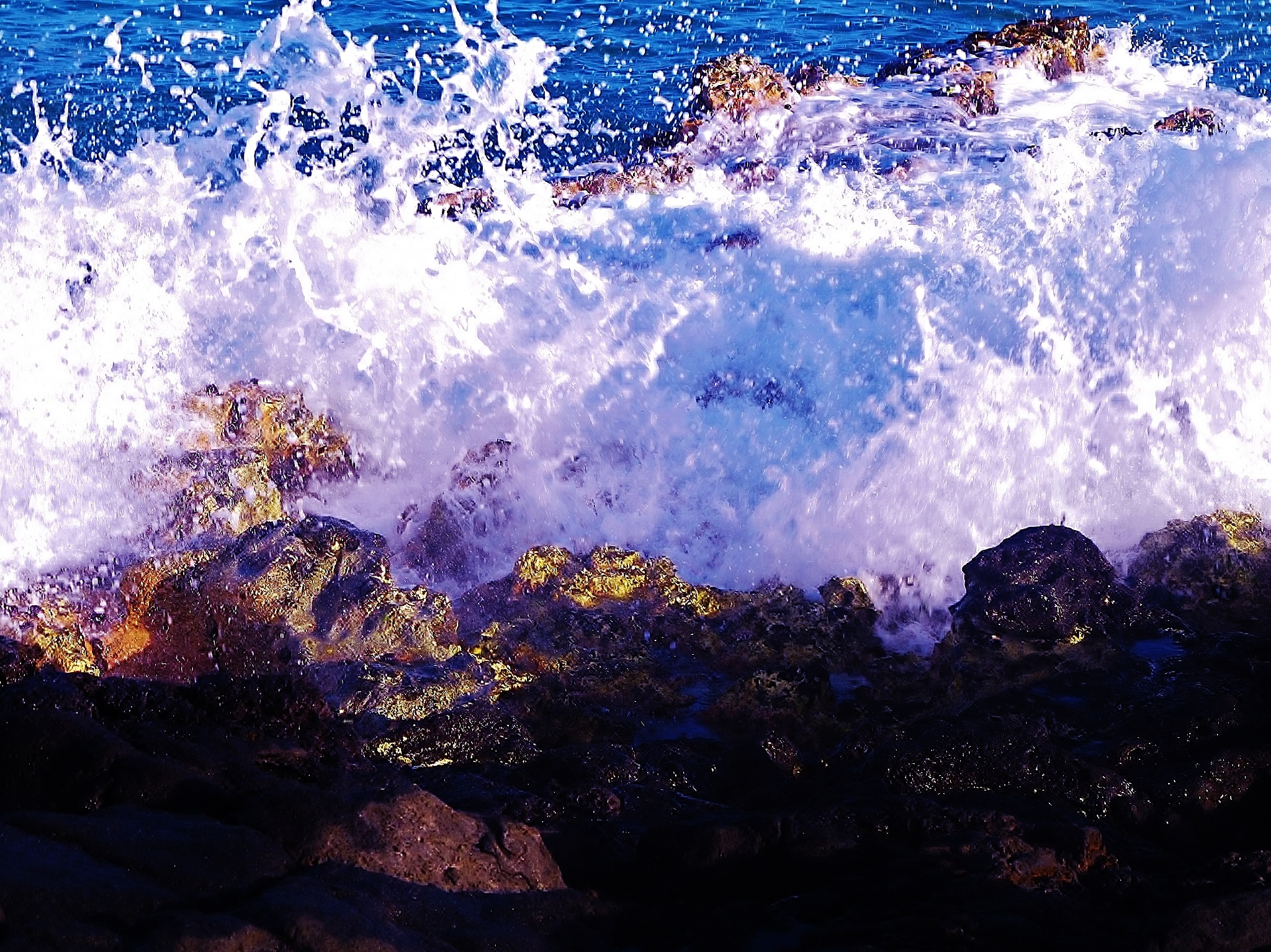 WATER ON THE ROCKS . by paulcrimi178