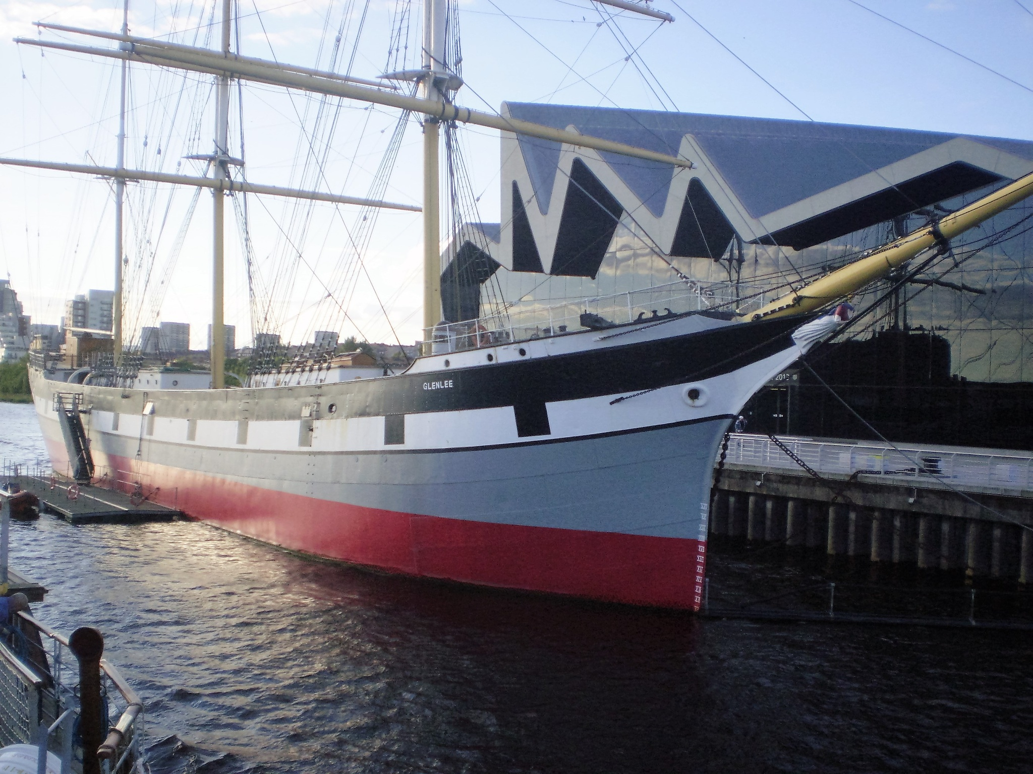 sailing ship on the clyde by BOB PENTLAND