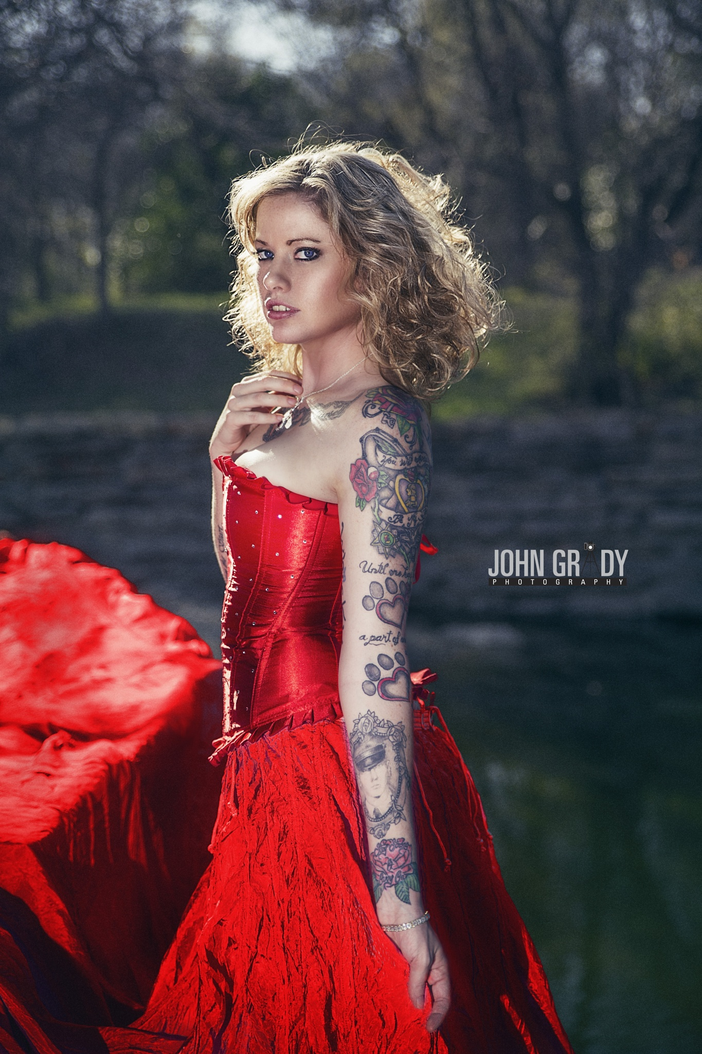 Pretty in Red by John Grady Photography