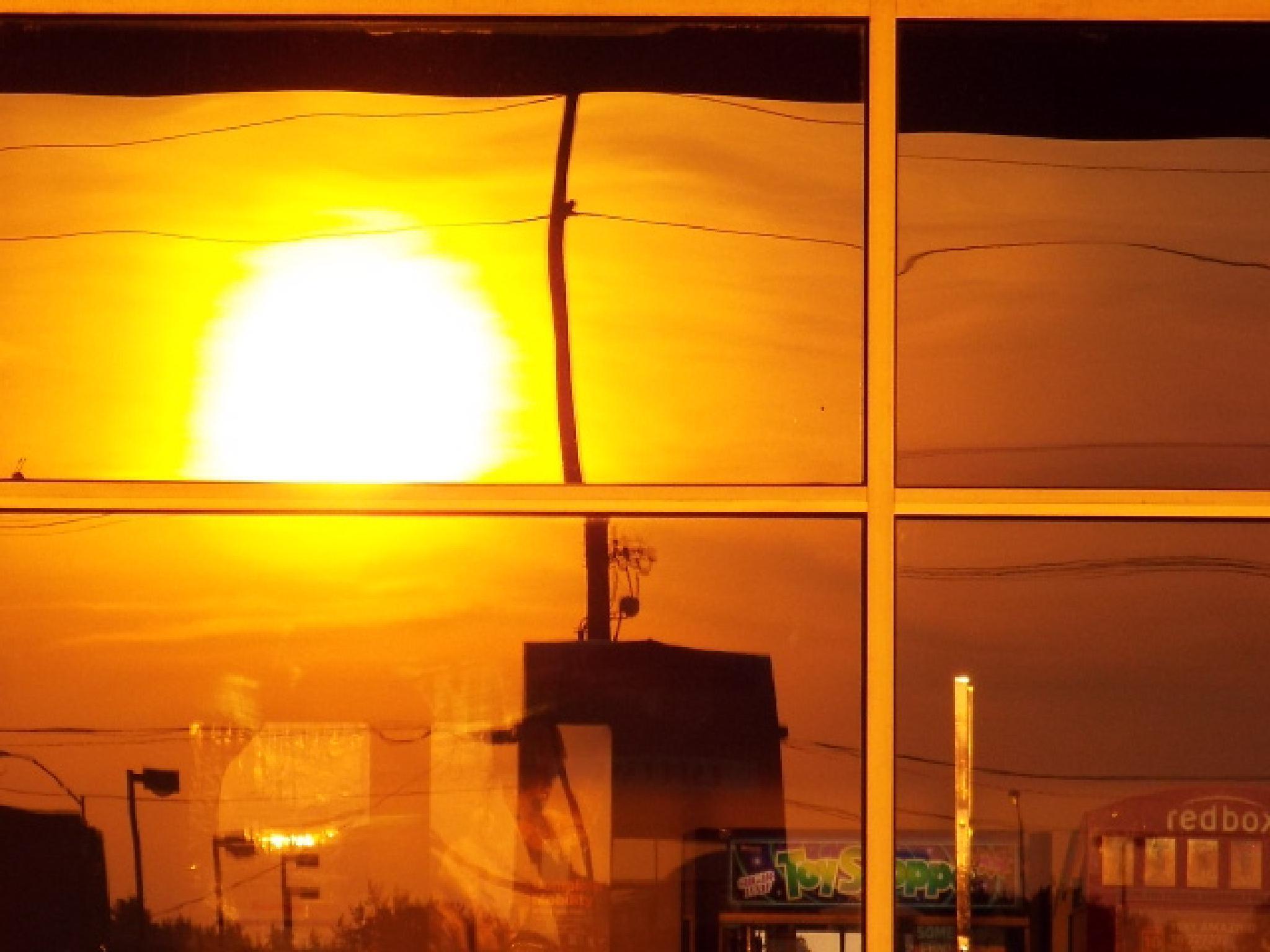 """Sunburst Reflection"" by Ron Berkley"