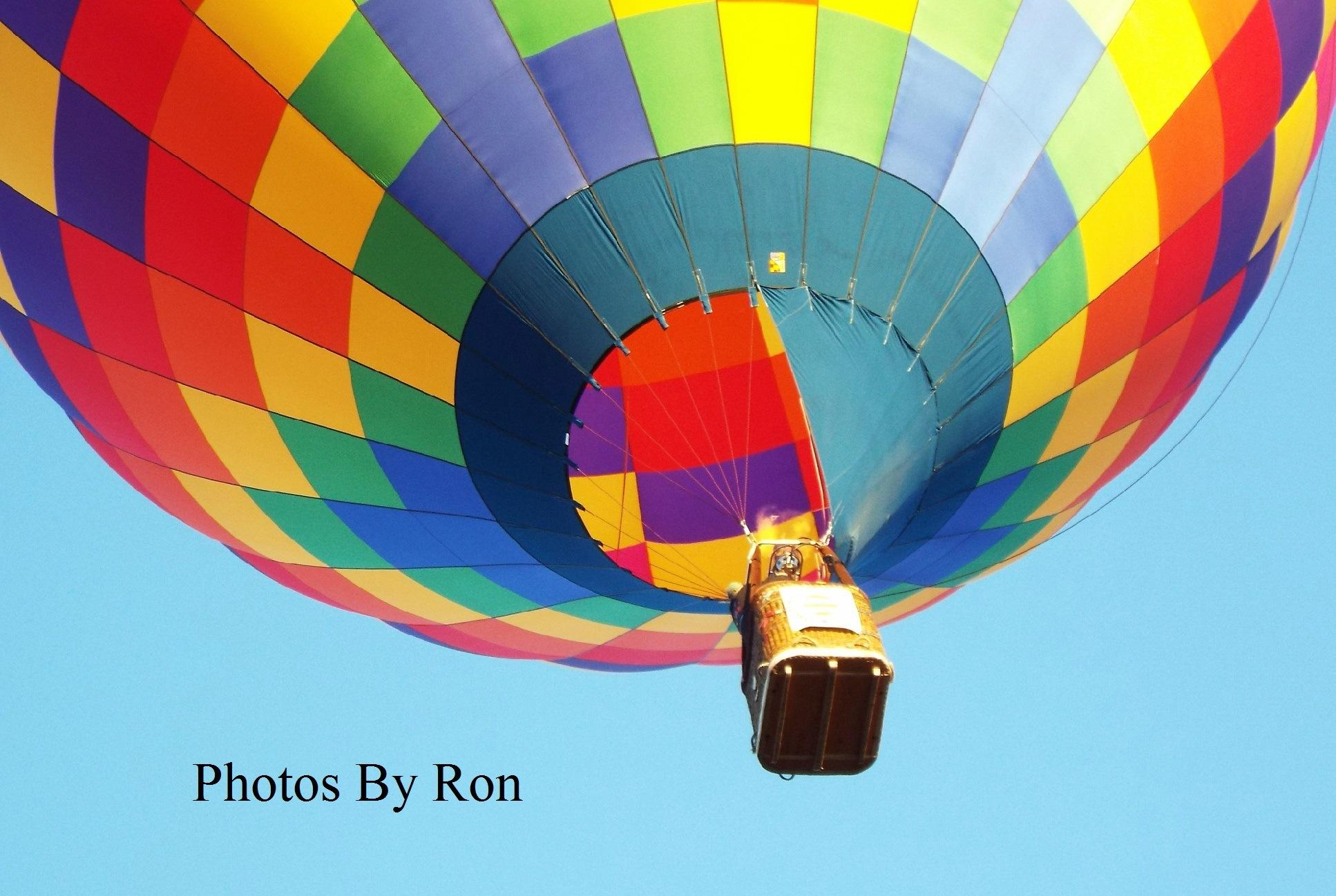 """Multi-Colored Hot Air Balloon"" by Ron Berkley"