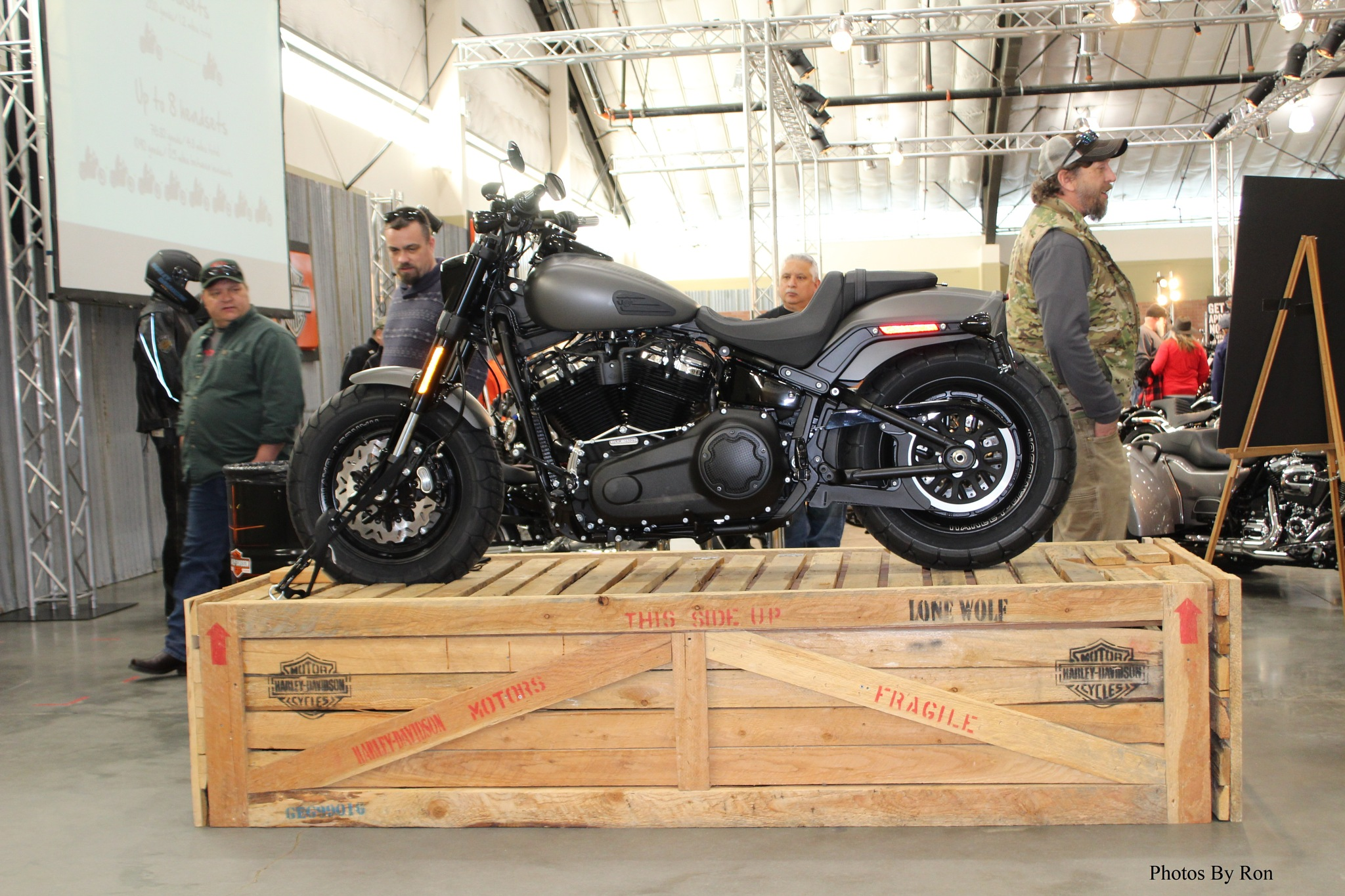 """""""A Harley On A Crate"""" by Ron Berkley"""