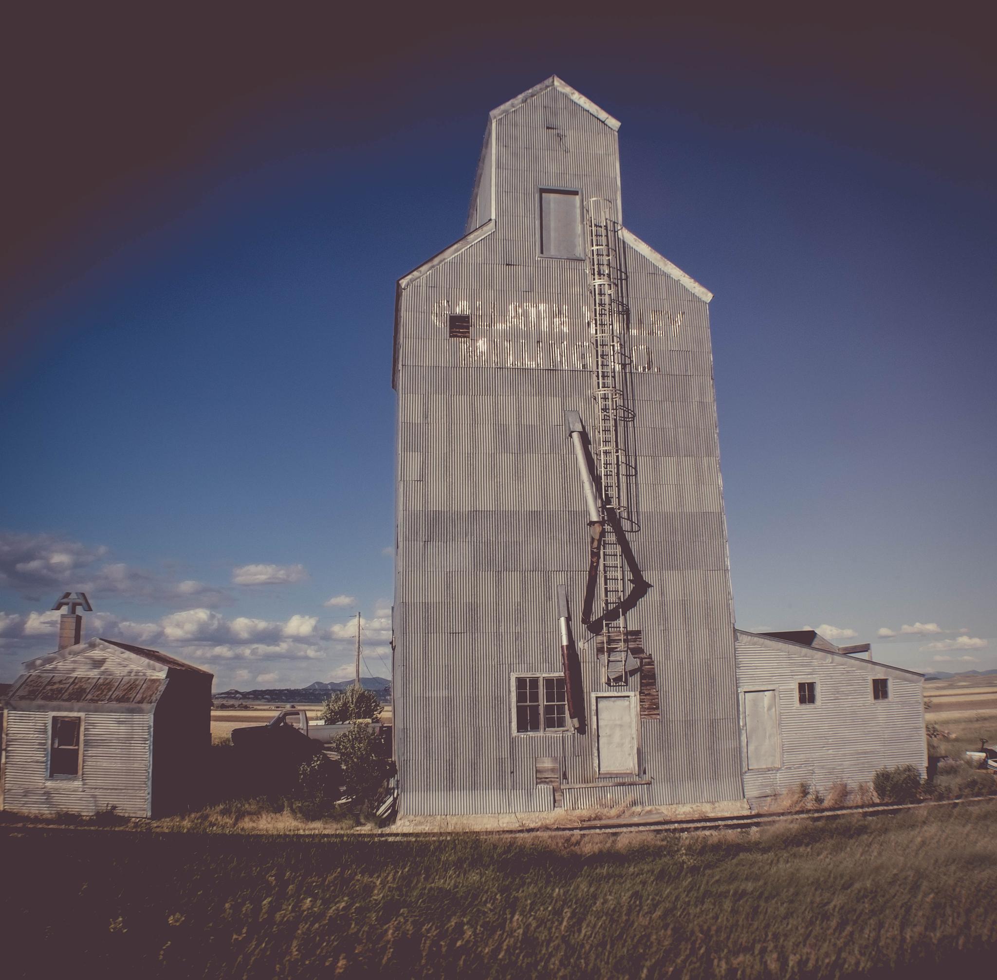 Old Grain Elevator by Pam Stewart