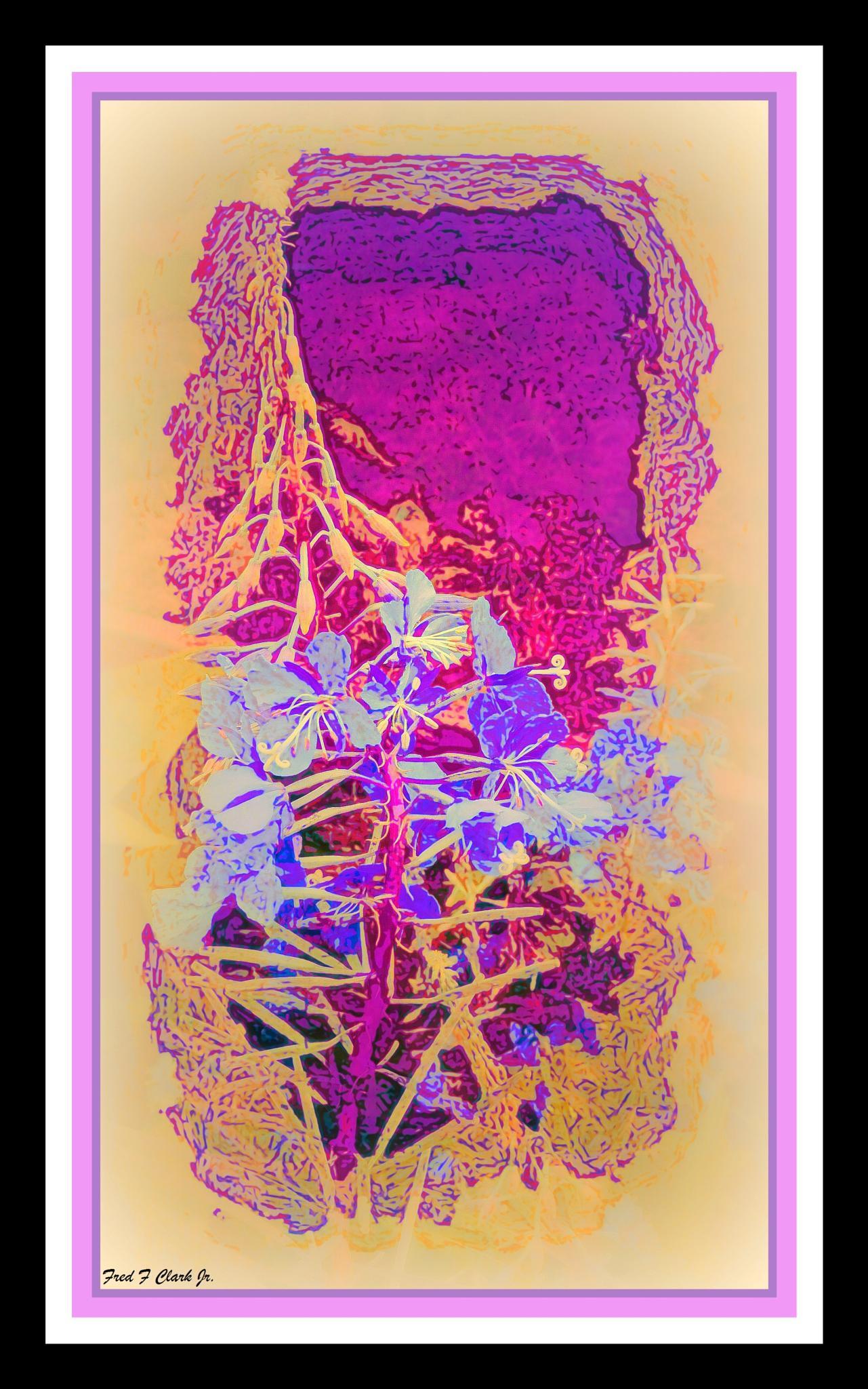 Purple Flowers (watercolor) by fred.clark.359