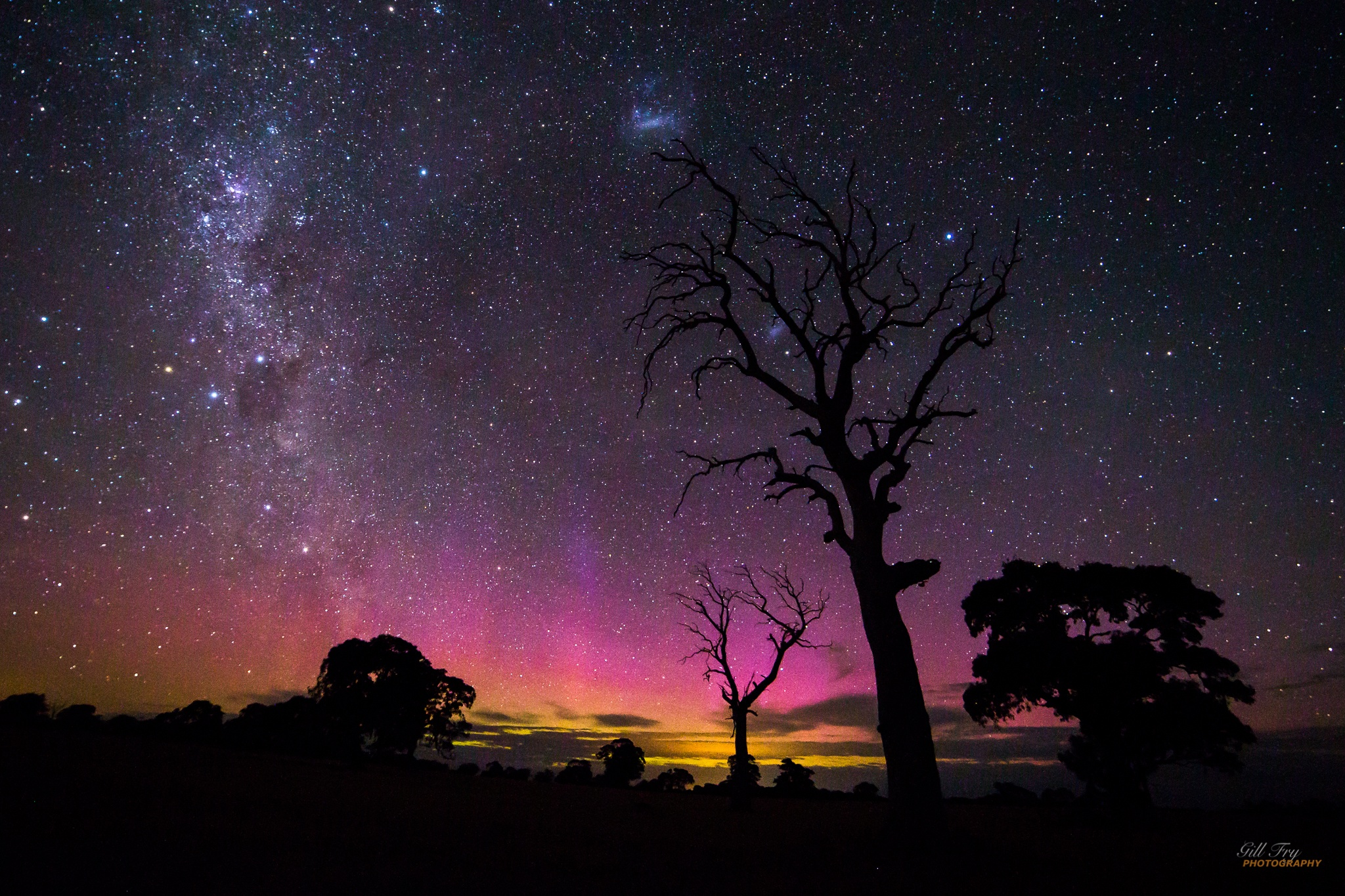 Natures aurora fireworks on New Years Eve by Gill Fry