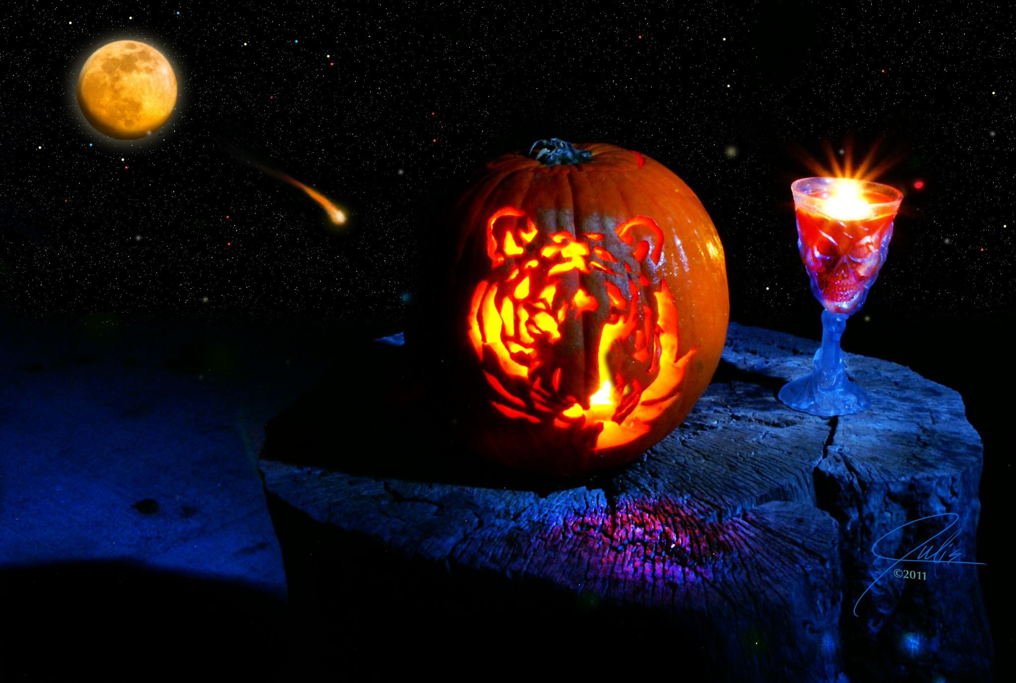 Harvest Moon Pumpkin by Julieanne Marie Benson
