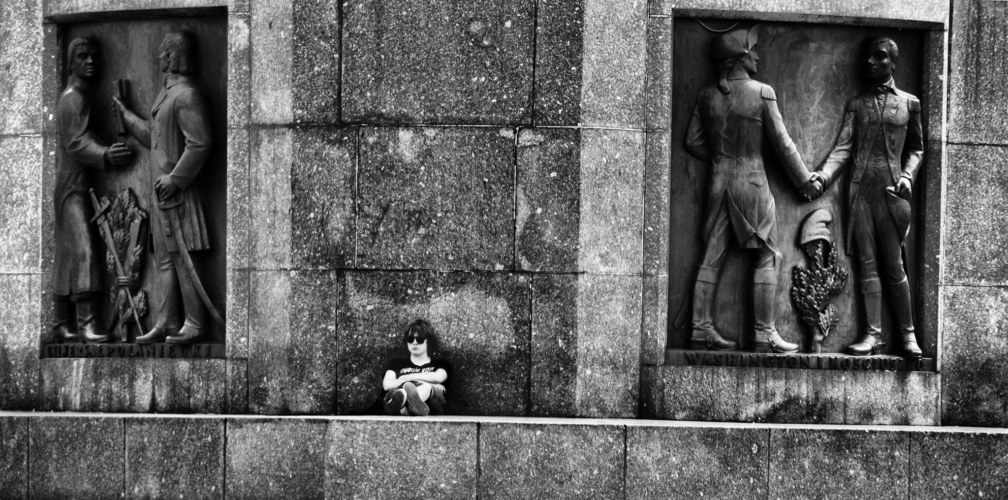 Lodz, Freedom Square, Kosciuszko Monument, on the right of Washington and Kosciuszko by piotr.b.tubylec
