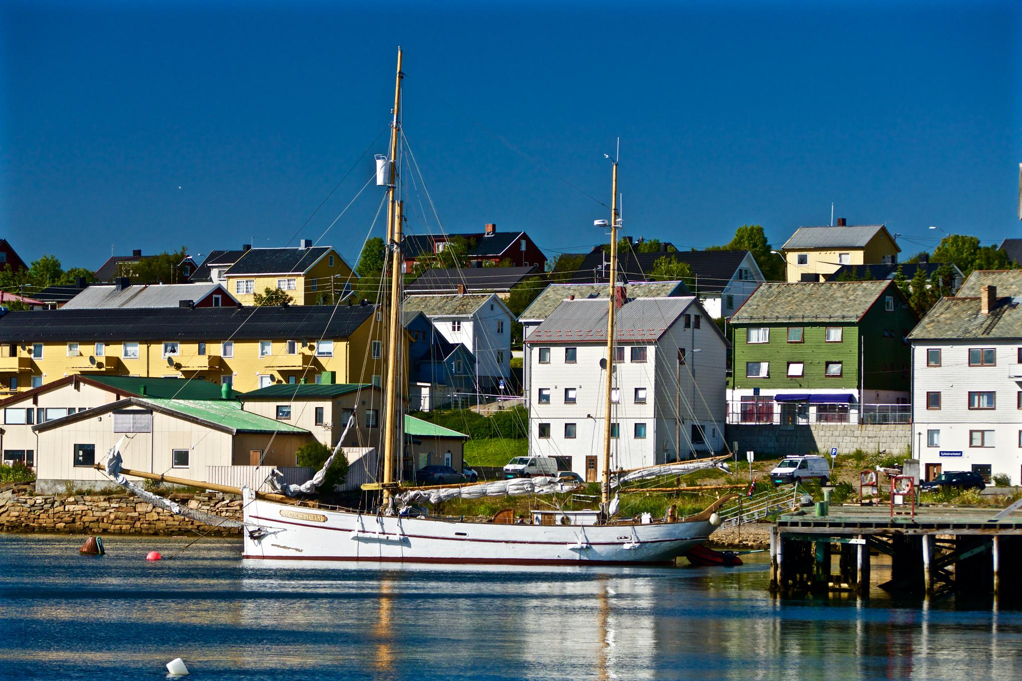 Sailboat, Vadsø Harbour by OleFoto