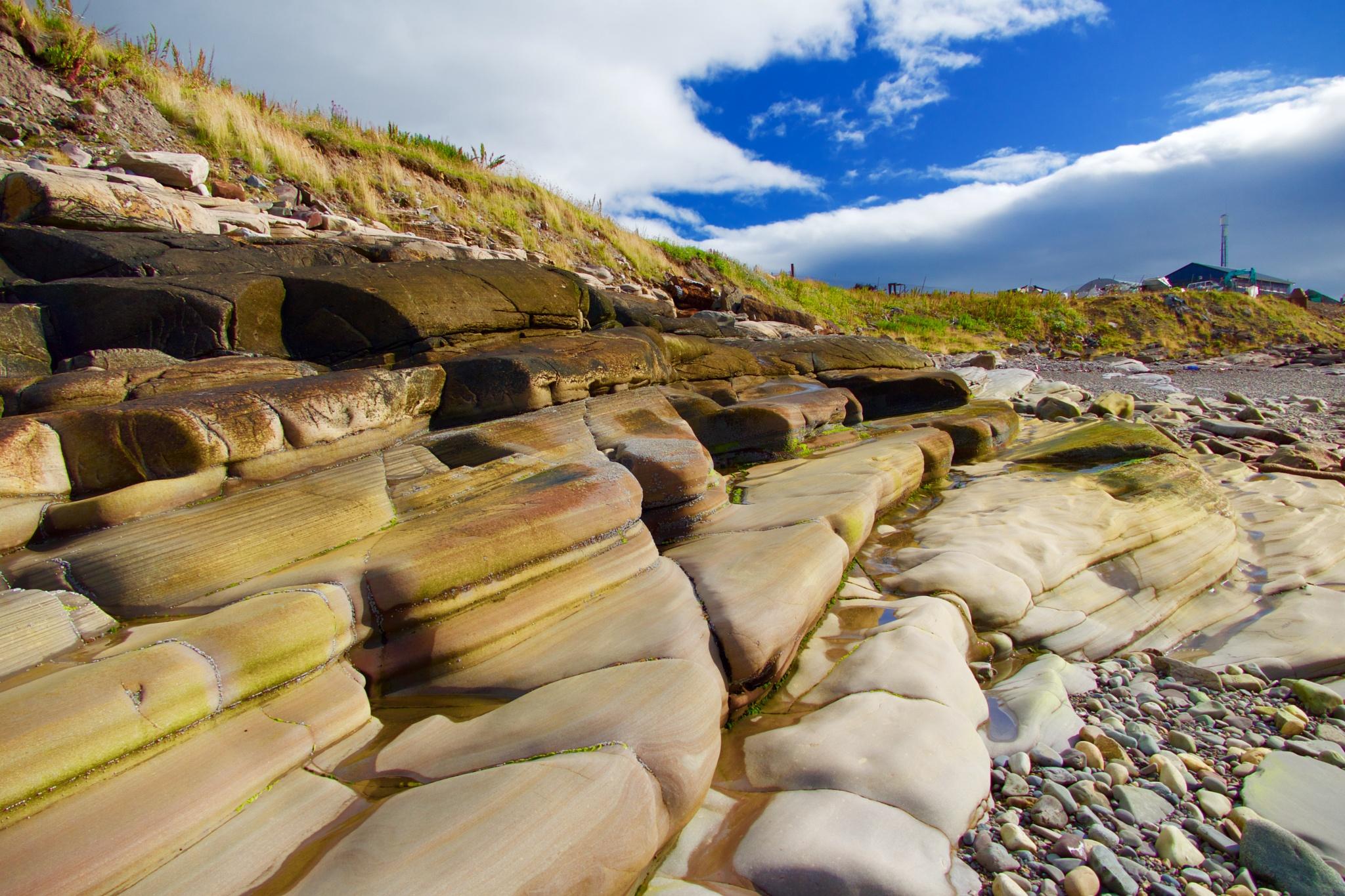 Polished stones by OleFoto
