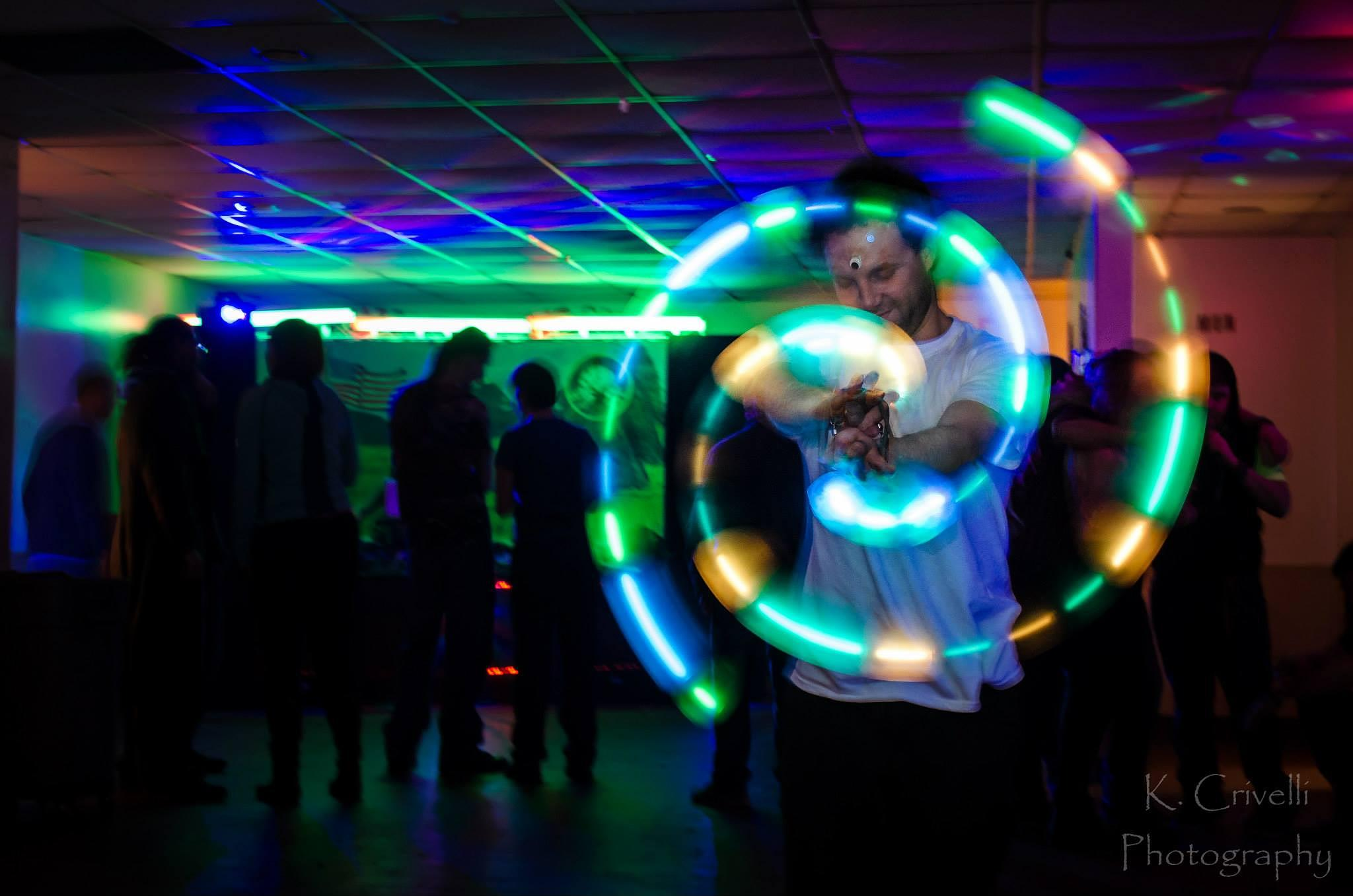 Photo in Urban #light trails #rave #glowstick