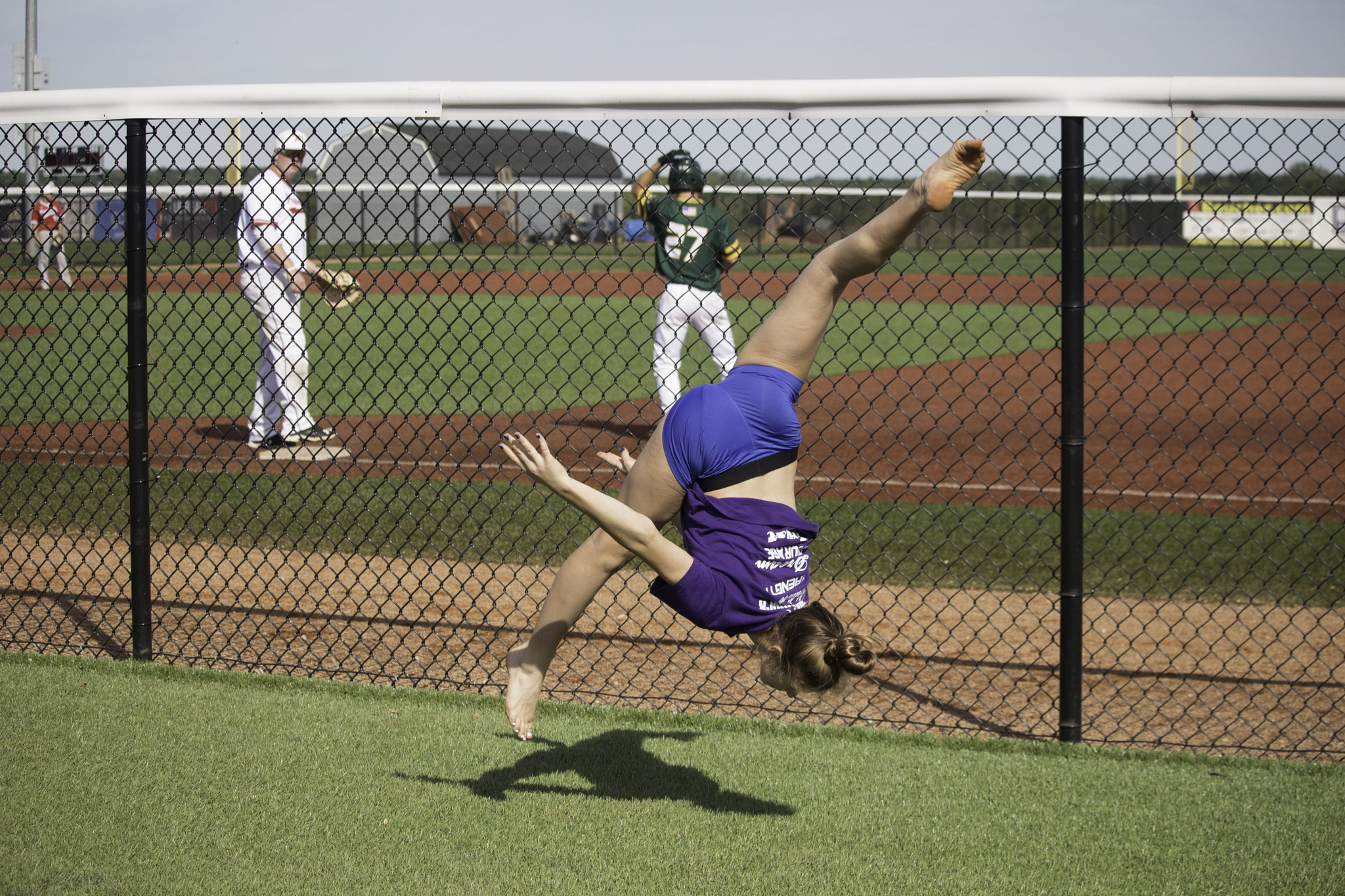 Flipping at the Ballfield by Danny V Photography