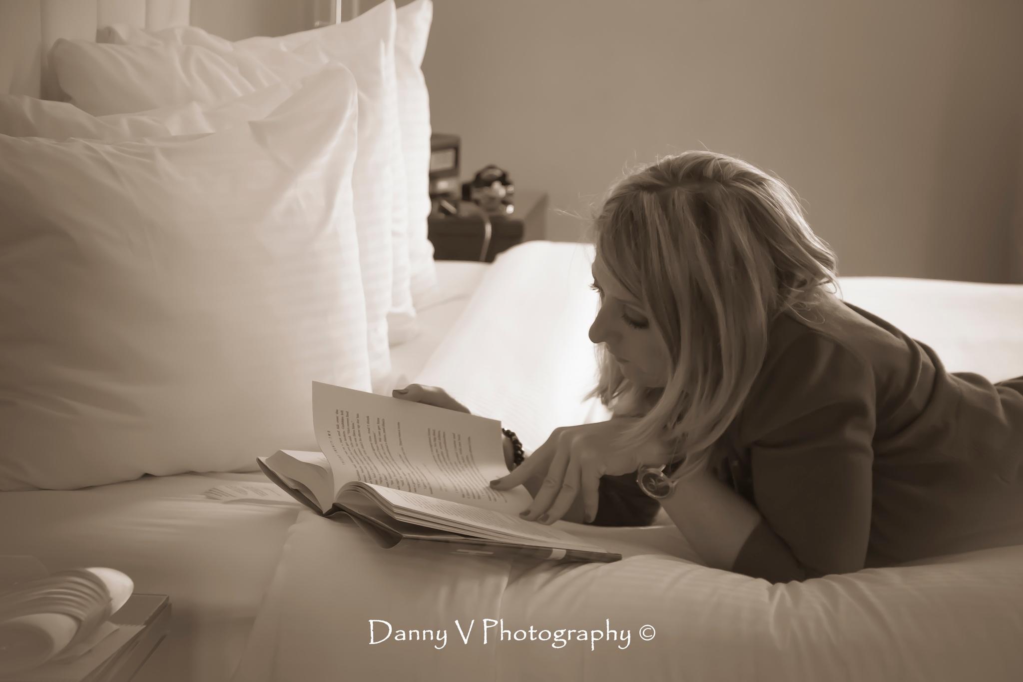 Avid Reader by Danny V Photography