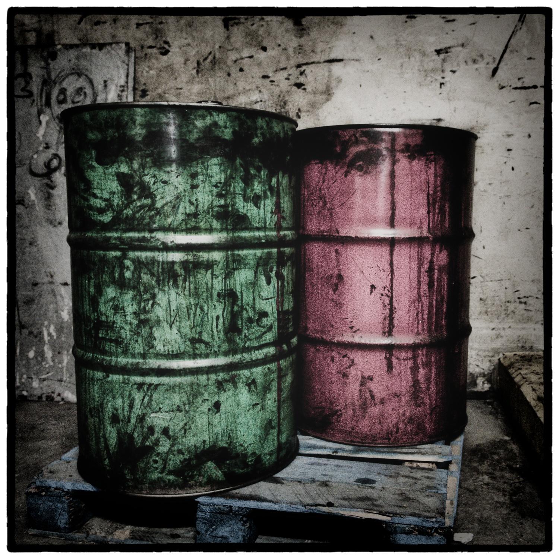 Photo in Industrial #lisa r. reisman photographs #atlanta #ink #color #print shop #basement