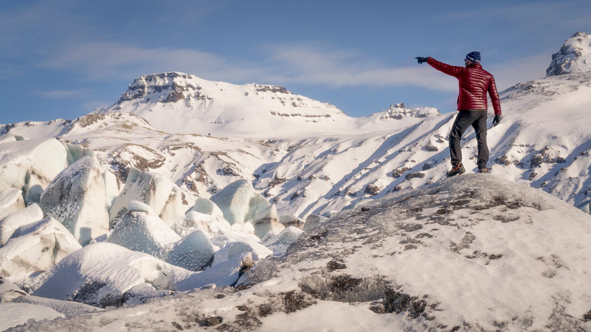 On Svínafellsjökull Glacier by William Yu Photography