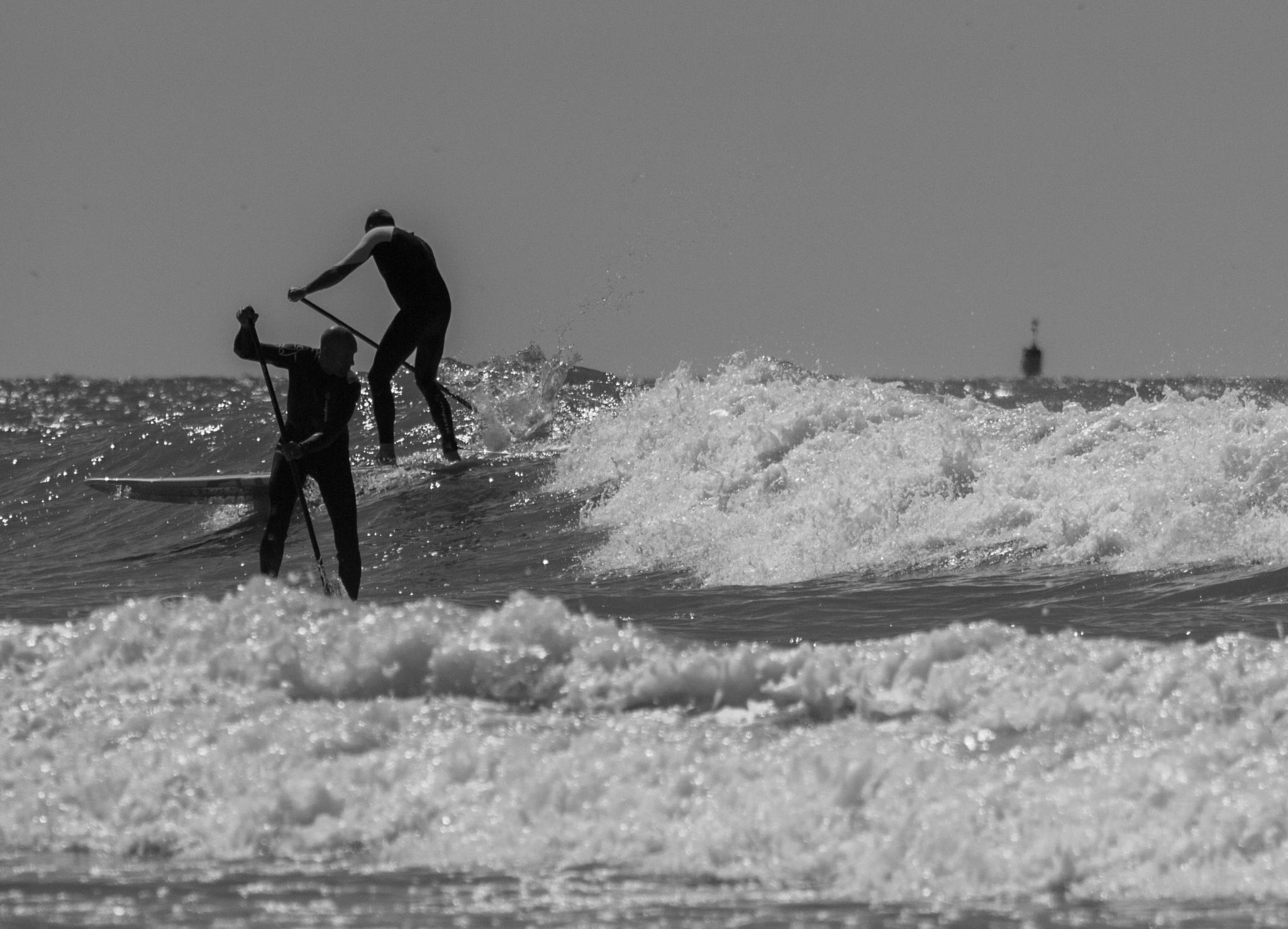 TWO SURFERS by dbWaterman