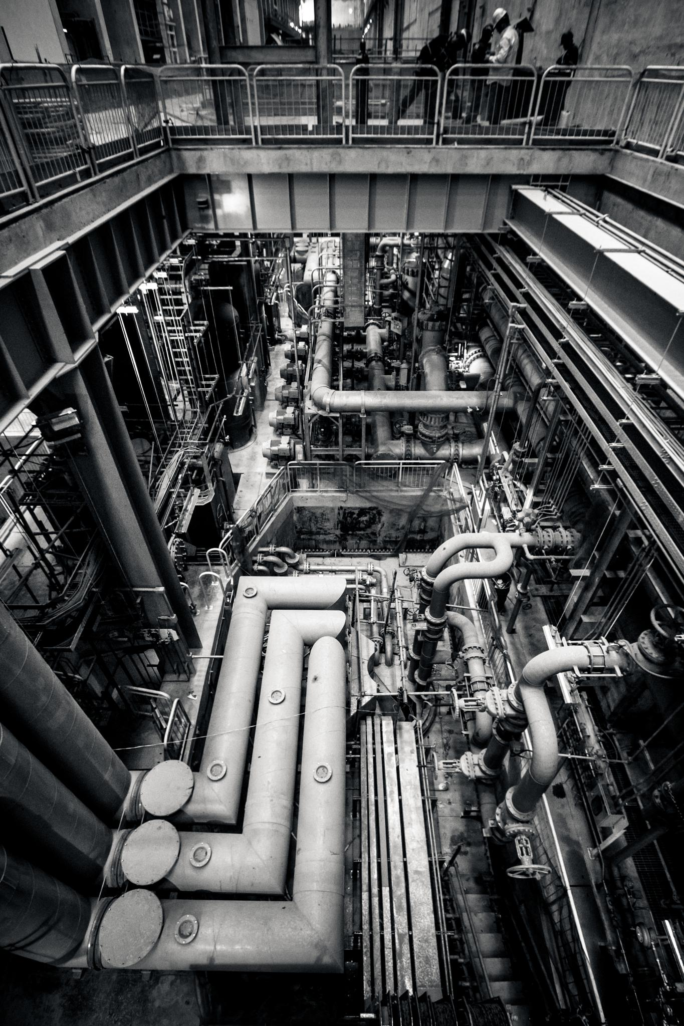 Photo in Interior #jirau #hidro #energy #hidropower #power #brasil #braziliam #bigger #dam #concrete #mecanic