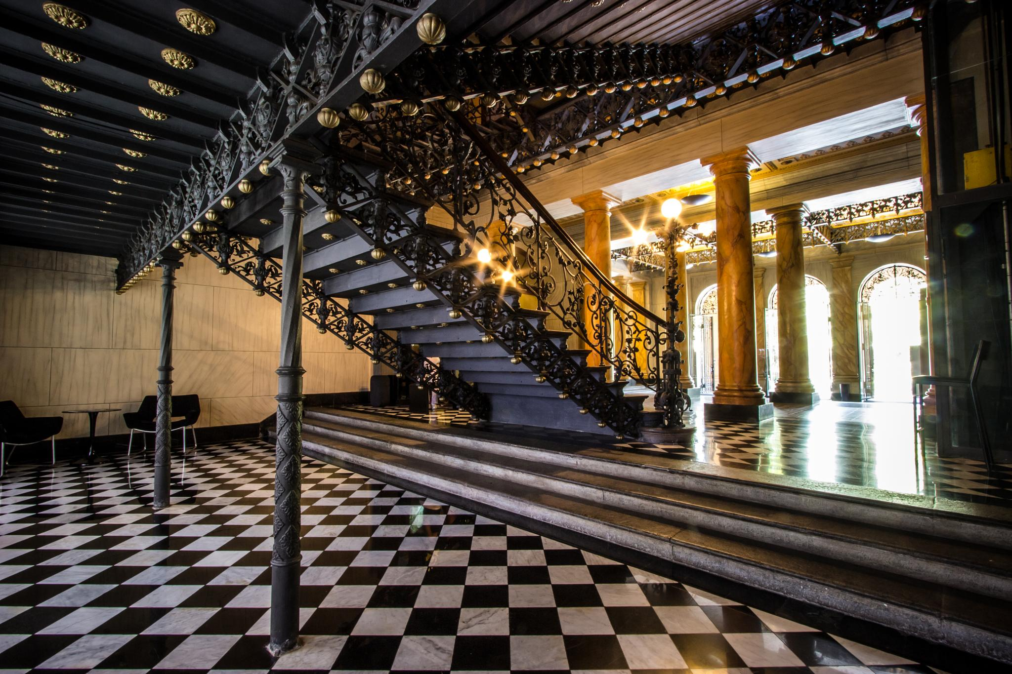 HALL AND FRENCH STAIR (1800's) by dudafrancischelli
