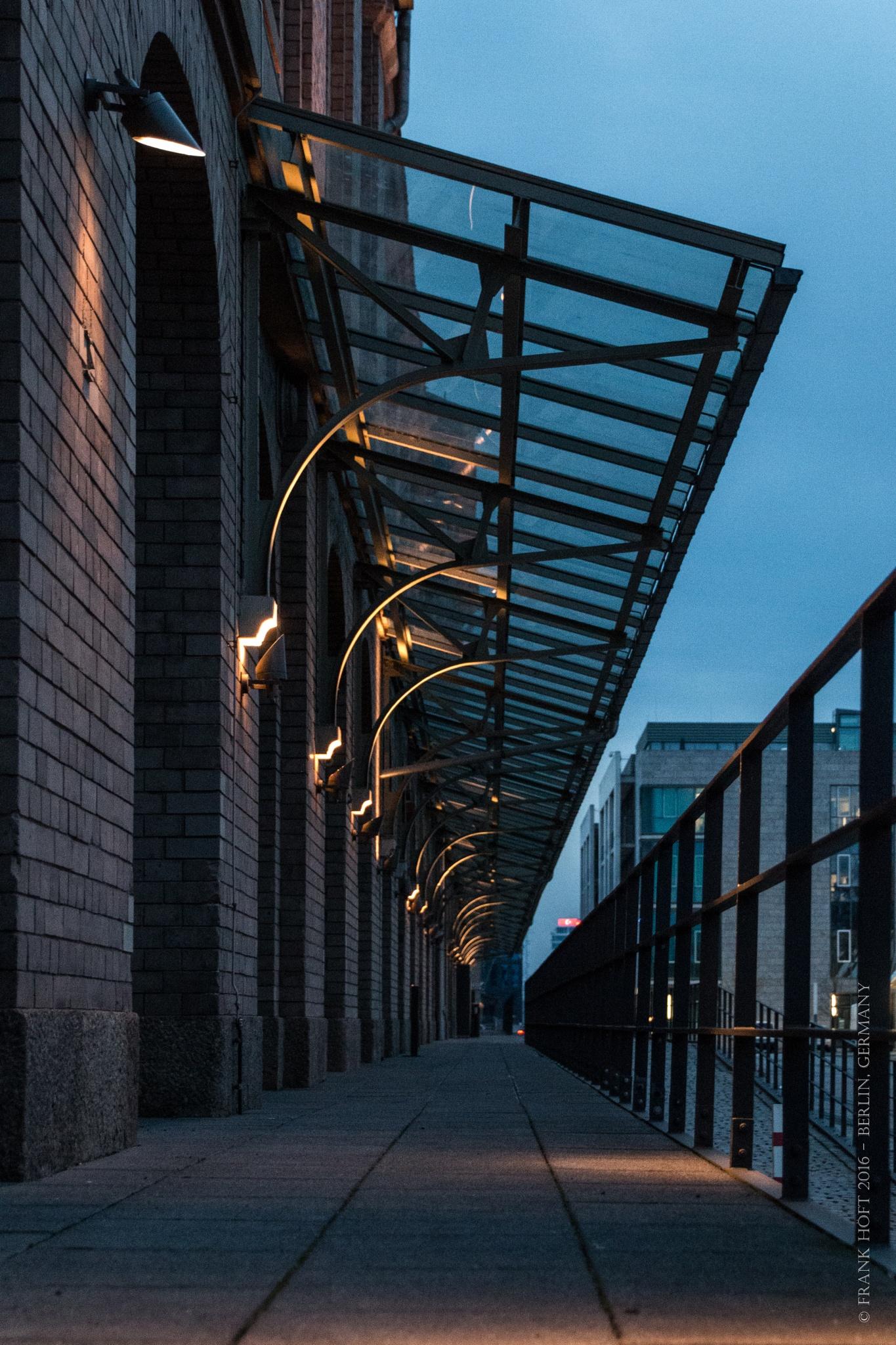 Berlin, Osthafen in the evening by Frank Höft