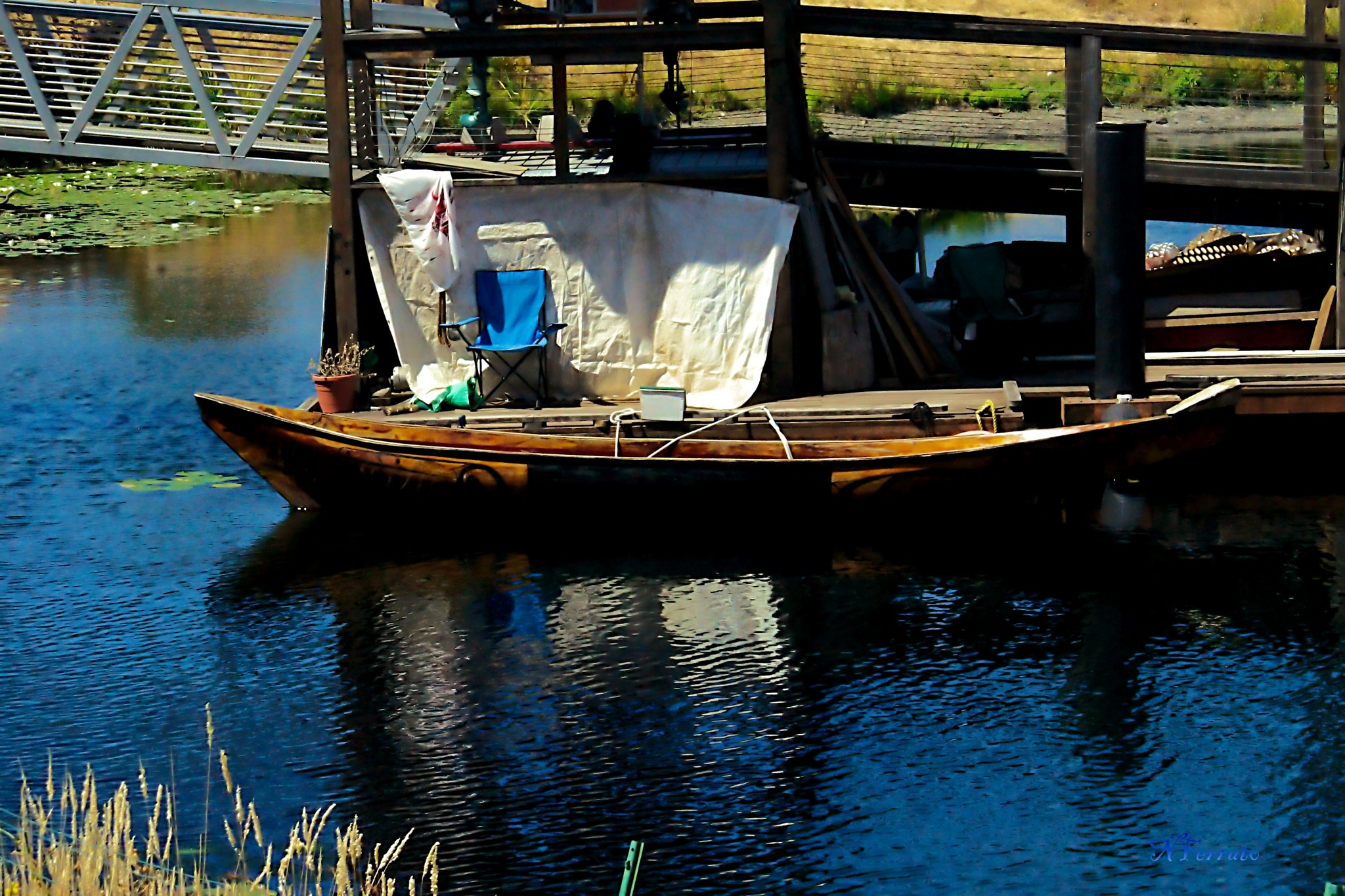 Lake Union Seattle wood boat by nferrato