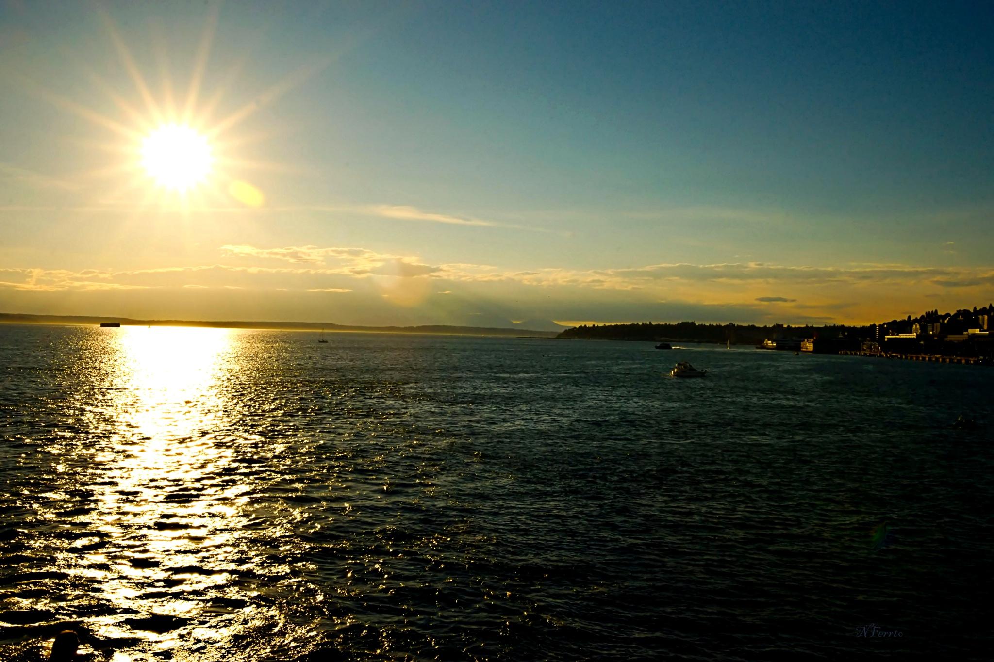 Seattle sunset  by nferrato