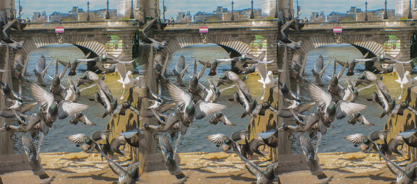Flying crowd… — Stereoscopy by jacquesraffin