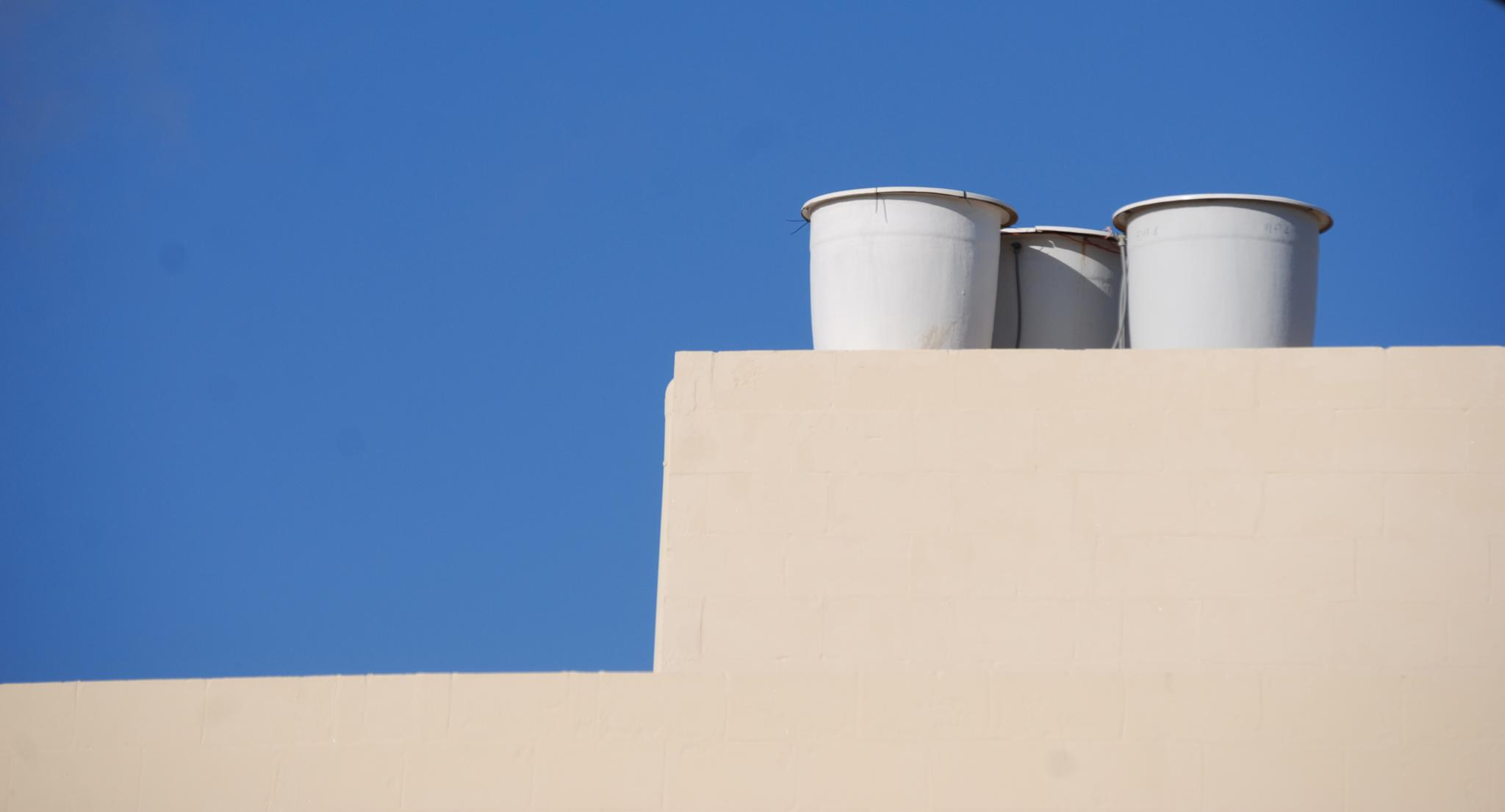 rainwater collection containers, Gozo by leena.ekroth