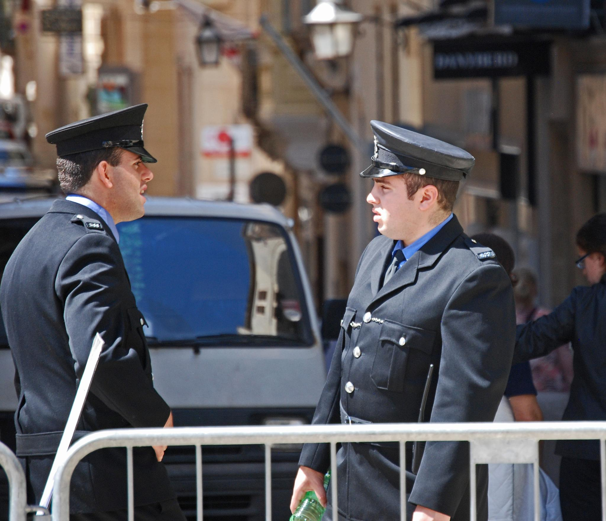 The forces of order in Valetta, Malta by leena.ekroth