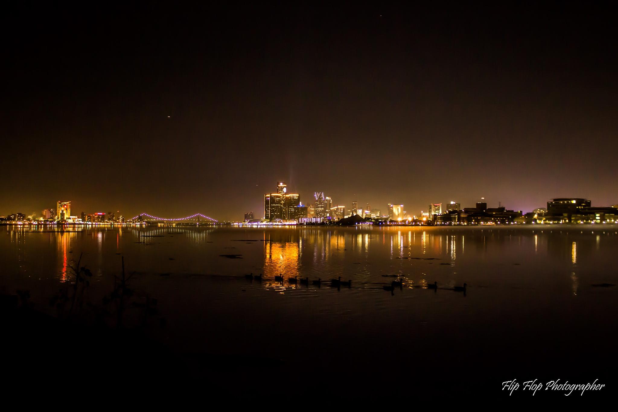 Detroit Skyline by Angela Mead
